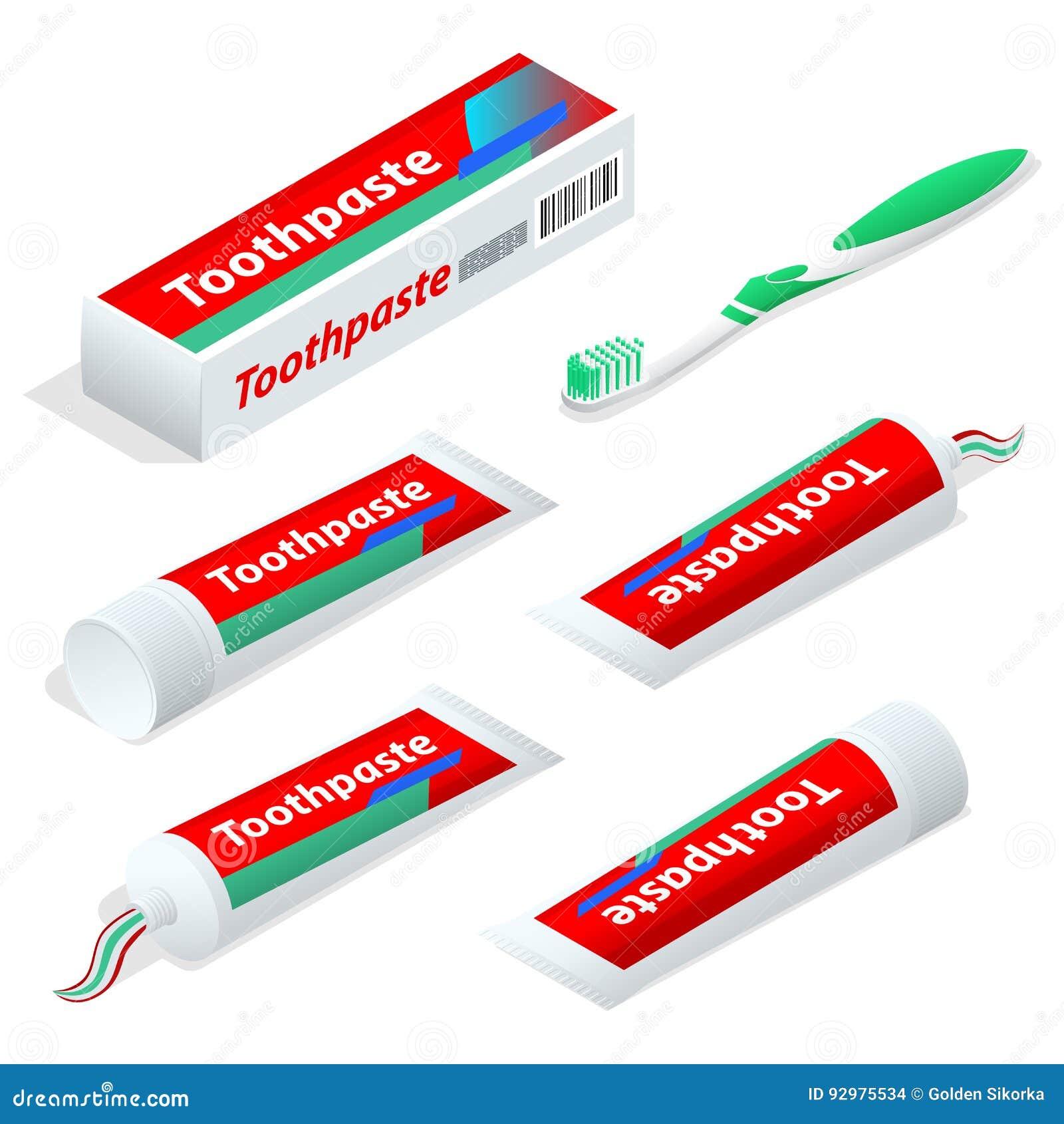 Isometric pasty, gel dentifrice używać z toothbrush jako akcesorium lub i