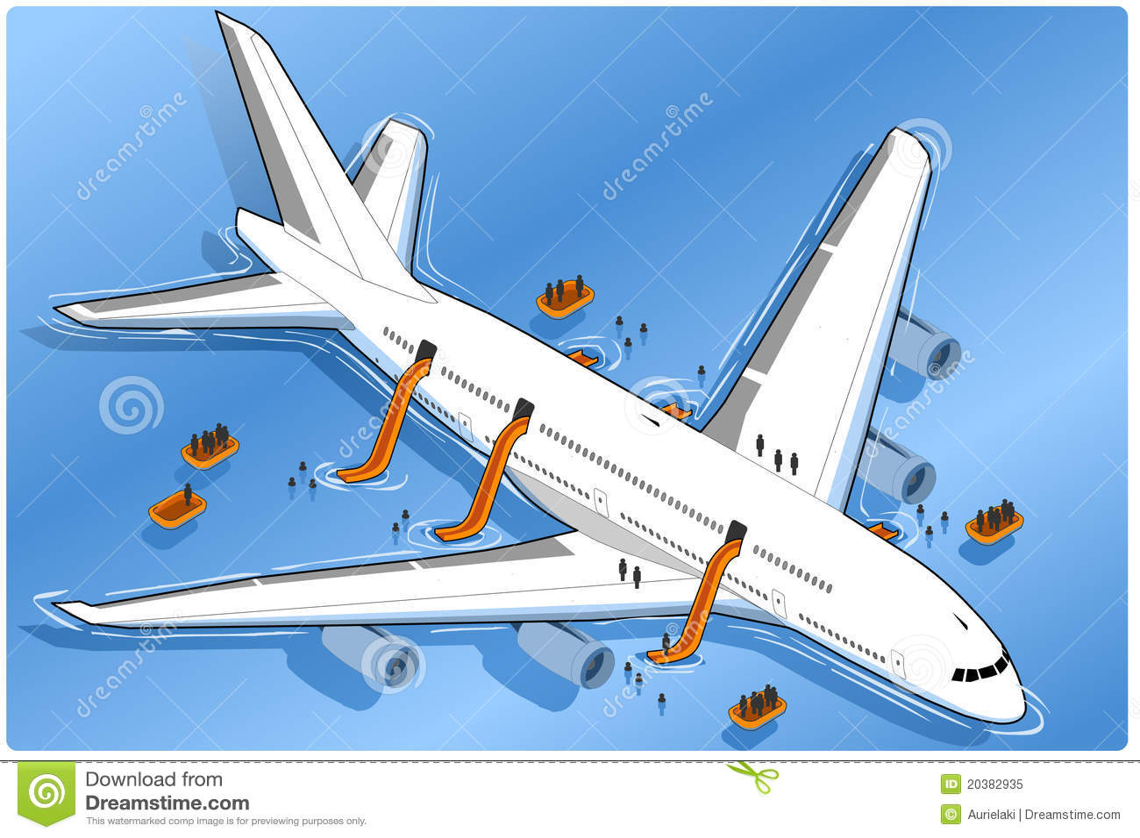 Isometric plane crash, ditched