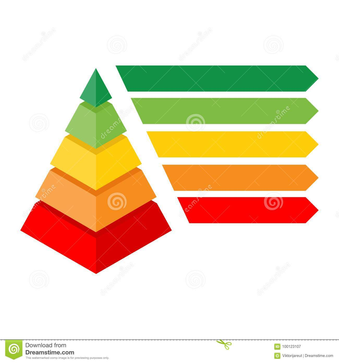 Isometric Pyramid Chart Stock Illustration Of Diagram The Purpose An Is To