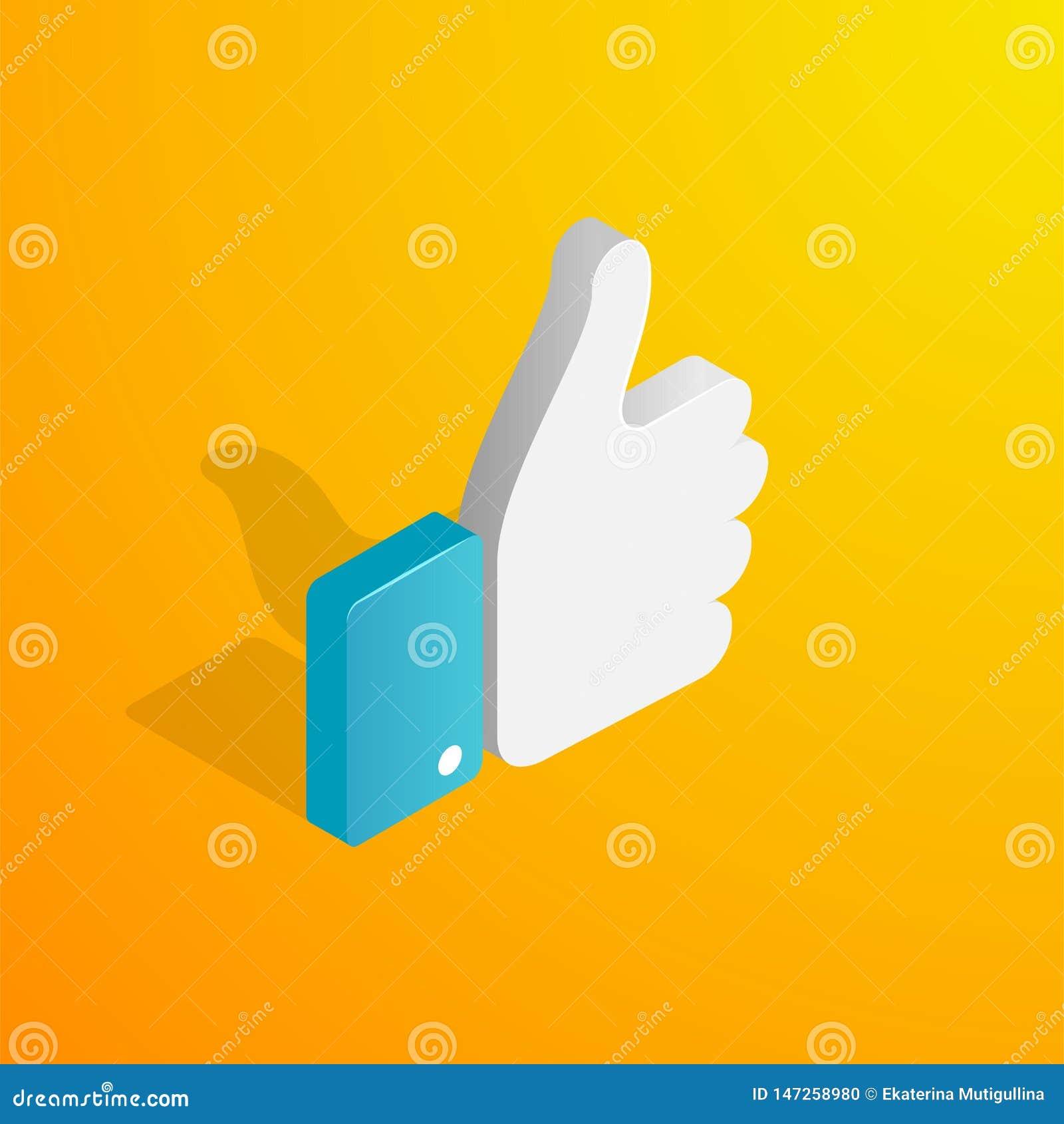 Isometric ręka jak ikona