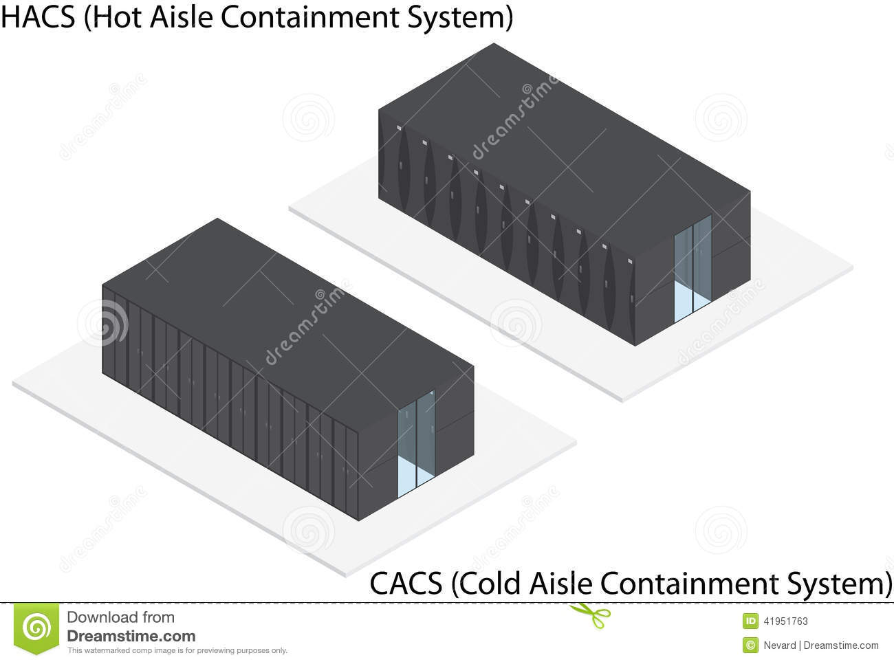 Isometric Rack Server Containment System Stock