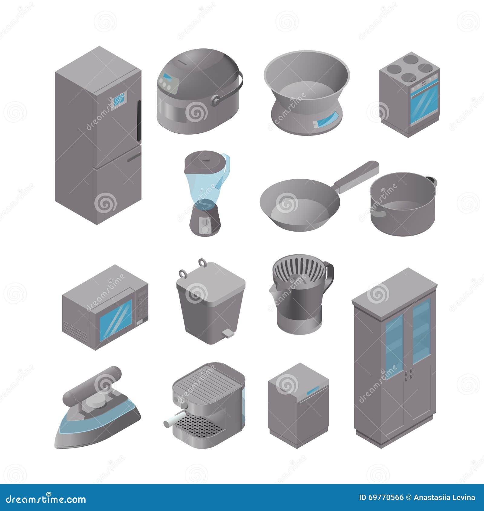 Uncategorized Game Kitchen Appliances isometric set of kitchen appliances stock illustration image appliances