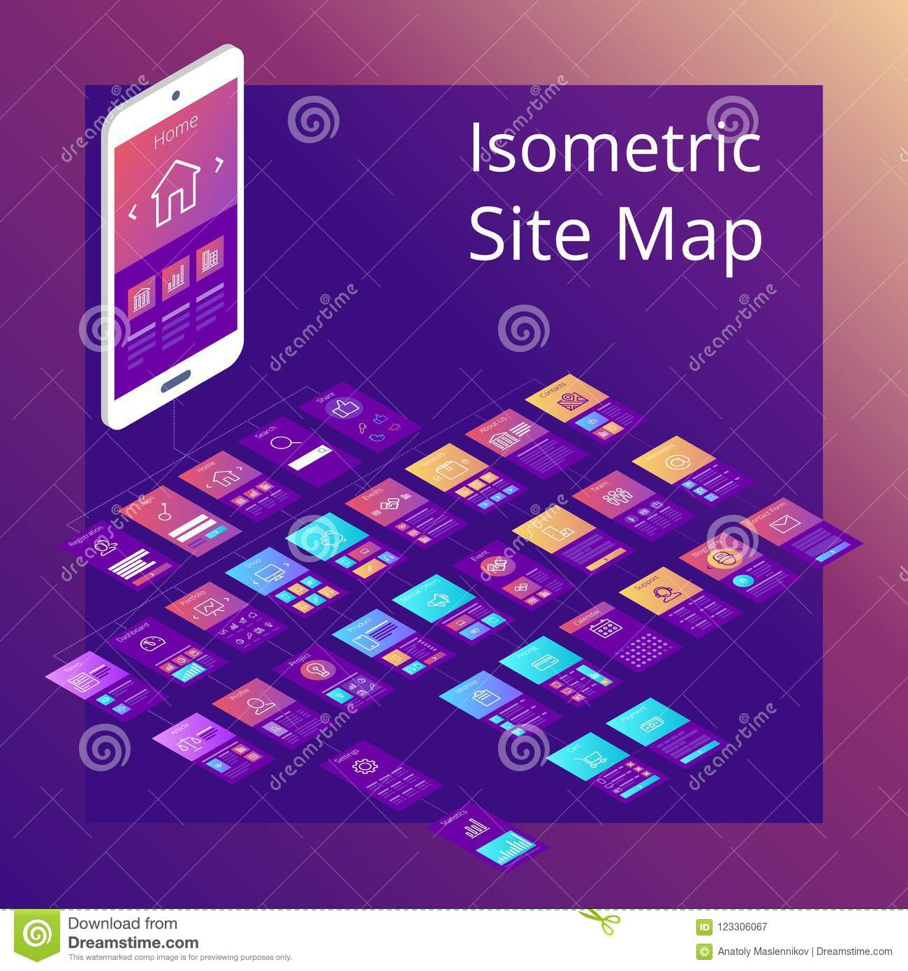 Isometric Site Map