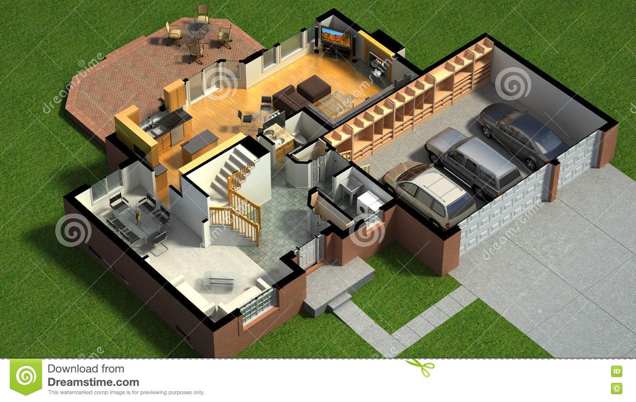Isometric View Of A Furnished House Stock Illustration ... on roadside house plans, residential building, custom home plans, mediterranean house plans, unique small house plans, 2400 sqft house plans, architectural house plans, high density house plans, house plans house plans, storefront house plans, title 24 house plans, canal front house plans, luxury 4 bedroom house plans, home house plans, decorative house plans, simplex house plans, construction plans, simple house plans, residential home kits, apps for house plans,