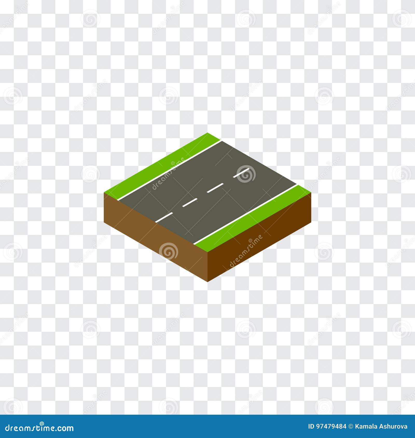 Isometrico a senso unico L elemento di vettore della strada privata può essere usato per la strada privata, singolo, concetto di