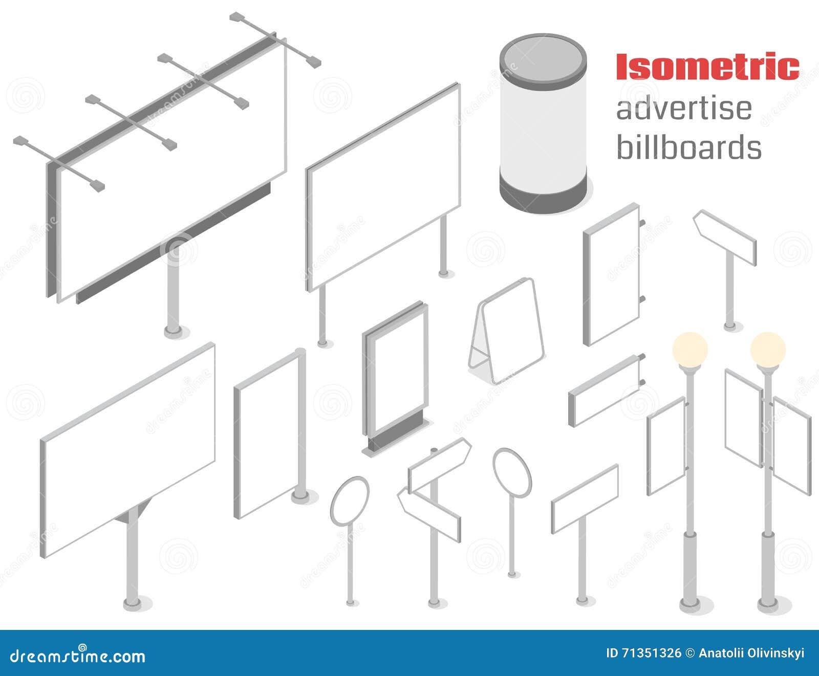 Isometrisch adverteer aanplakborden