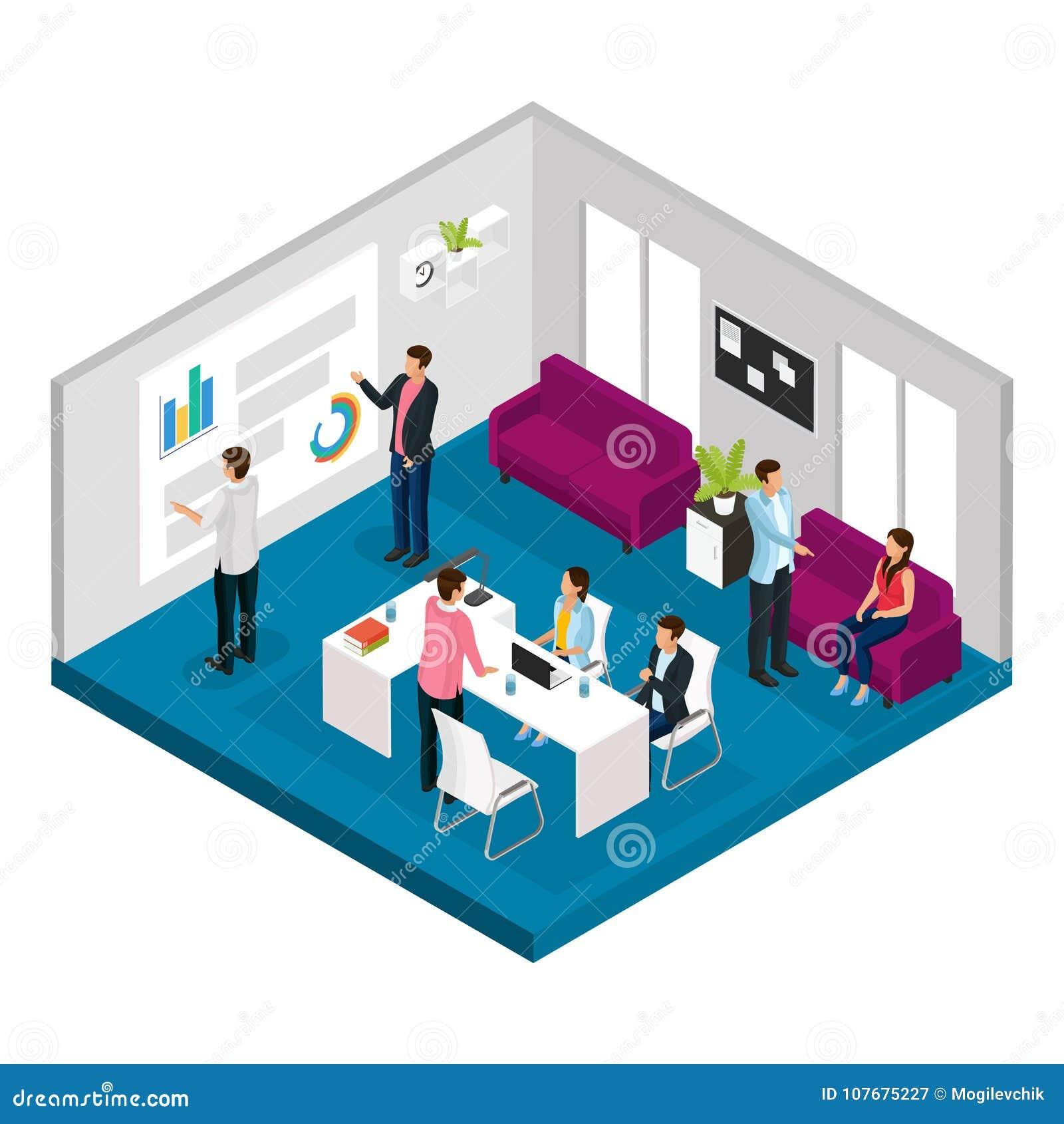 Isometrisch Commercieel Vergaderingsconcept