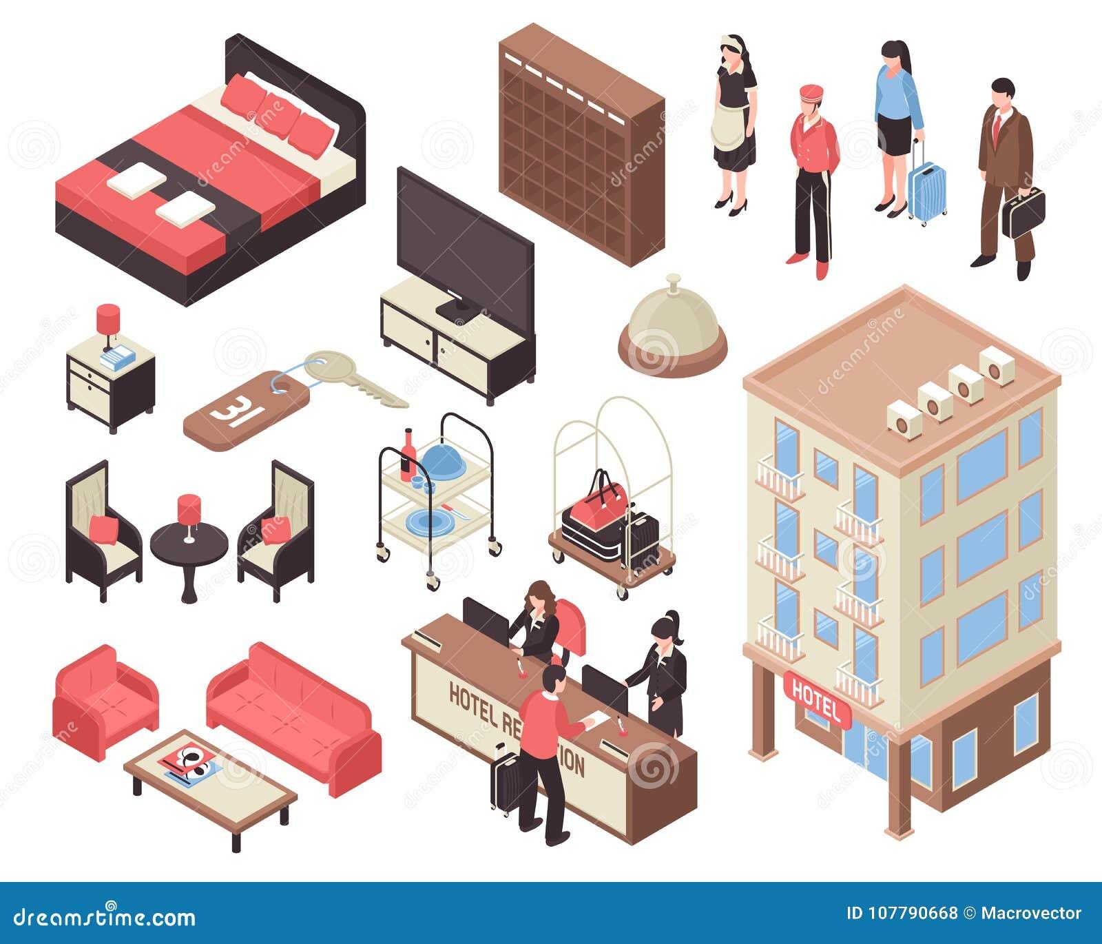 Isometrische Hotelreeks