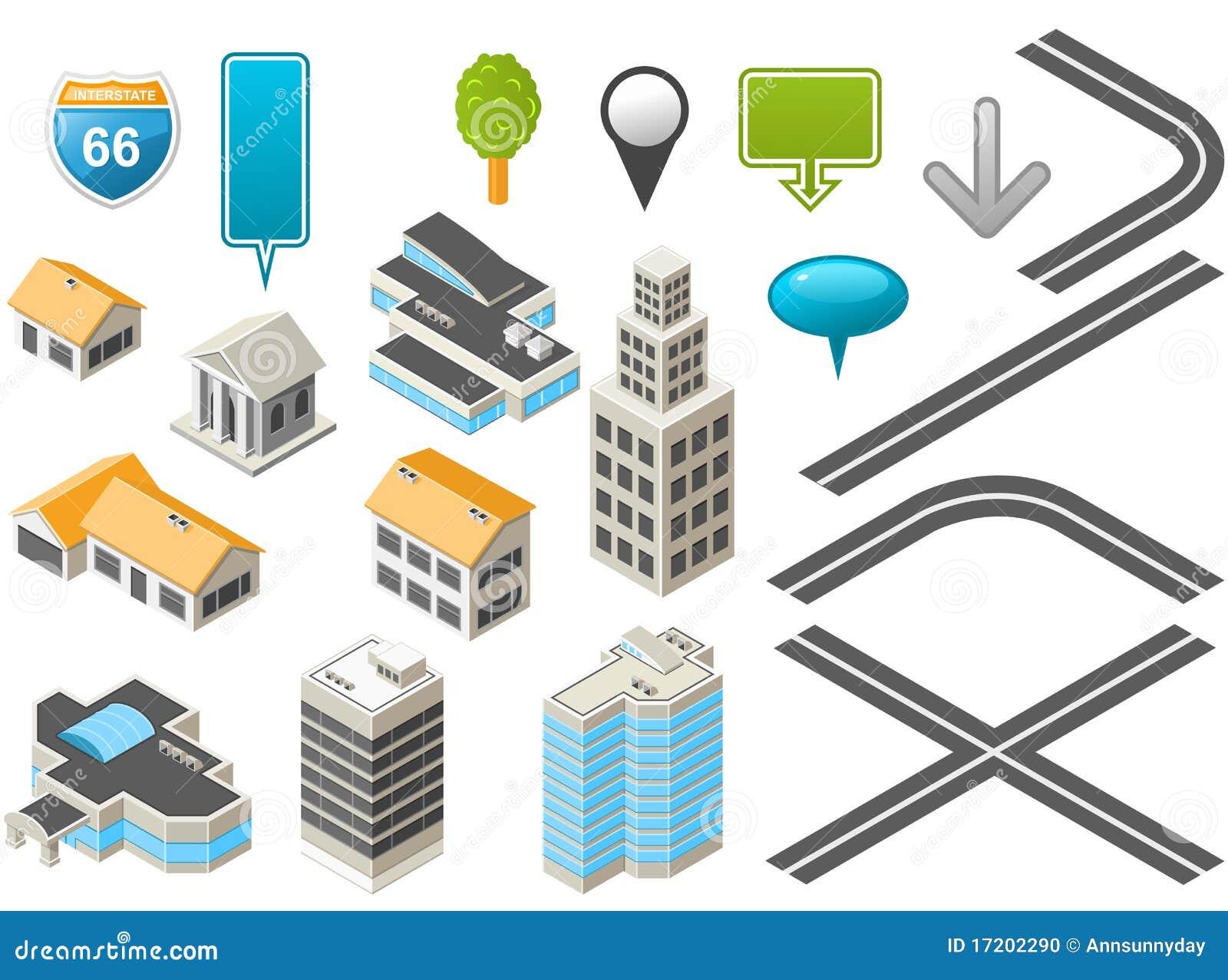 Isometrischer Karte Toolkit