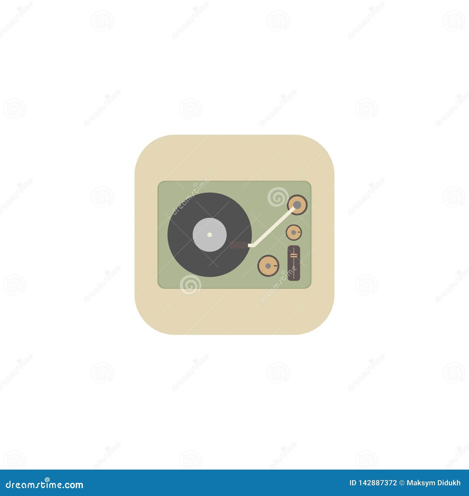 Isometrisches Bild eines Grammophons in einem Retrostil Auch im corel abgehobenen Betrag ENV 10