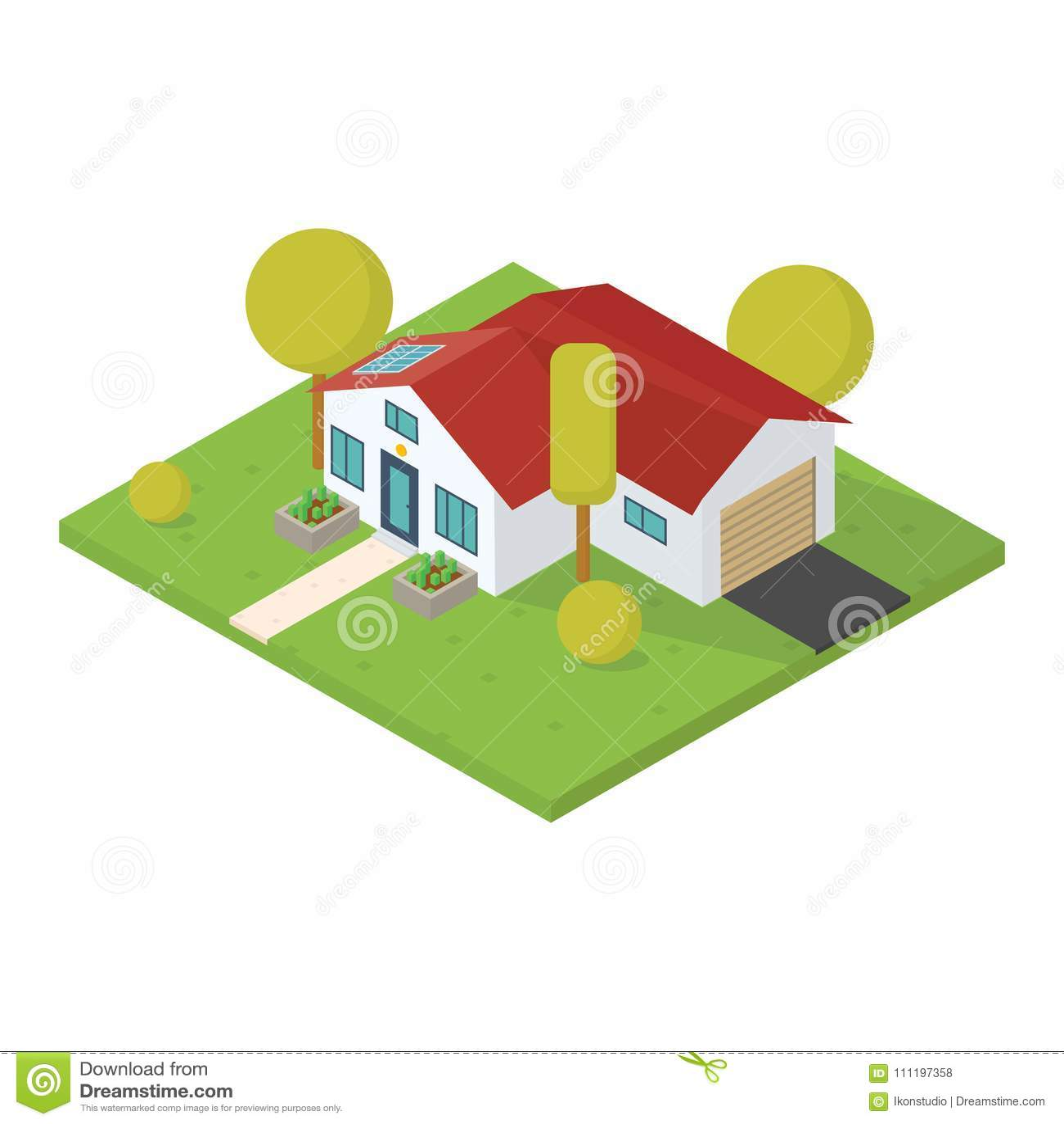 Isometrisches kleines Haus