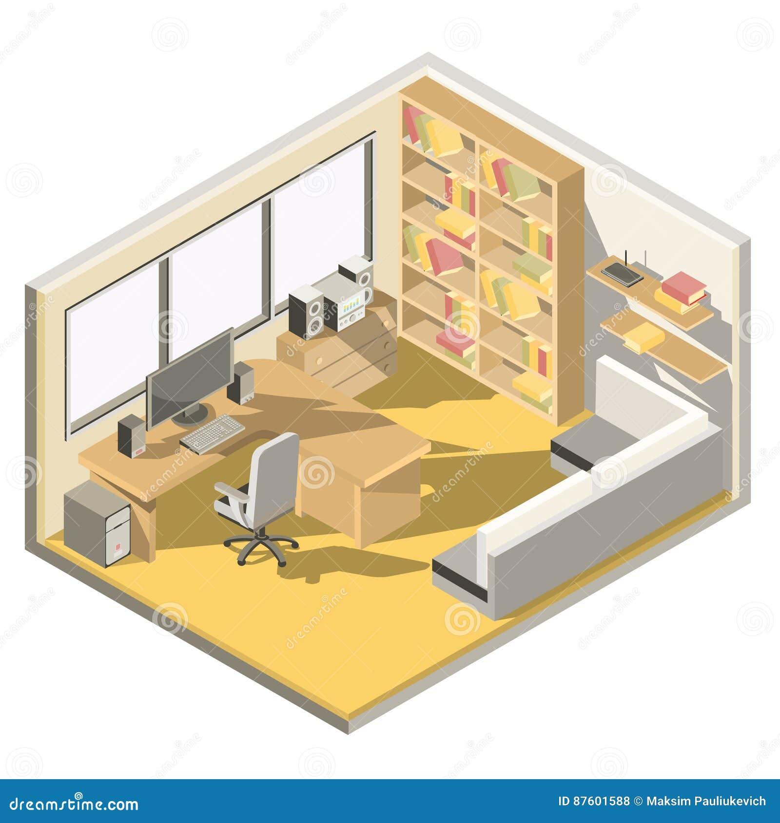 Isometrisk design för vektor av en inrikesdepartementet
