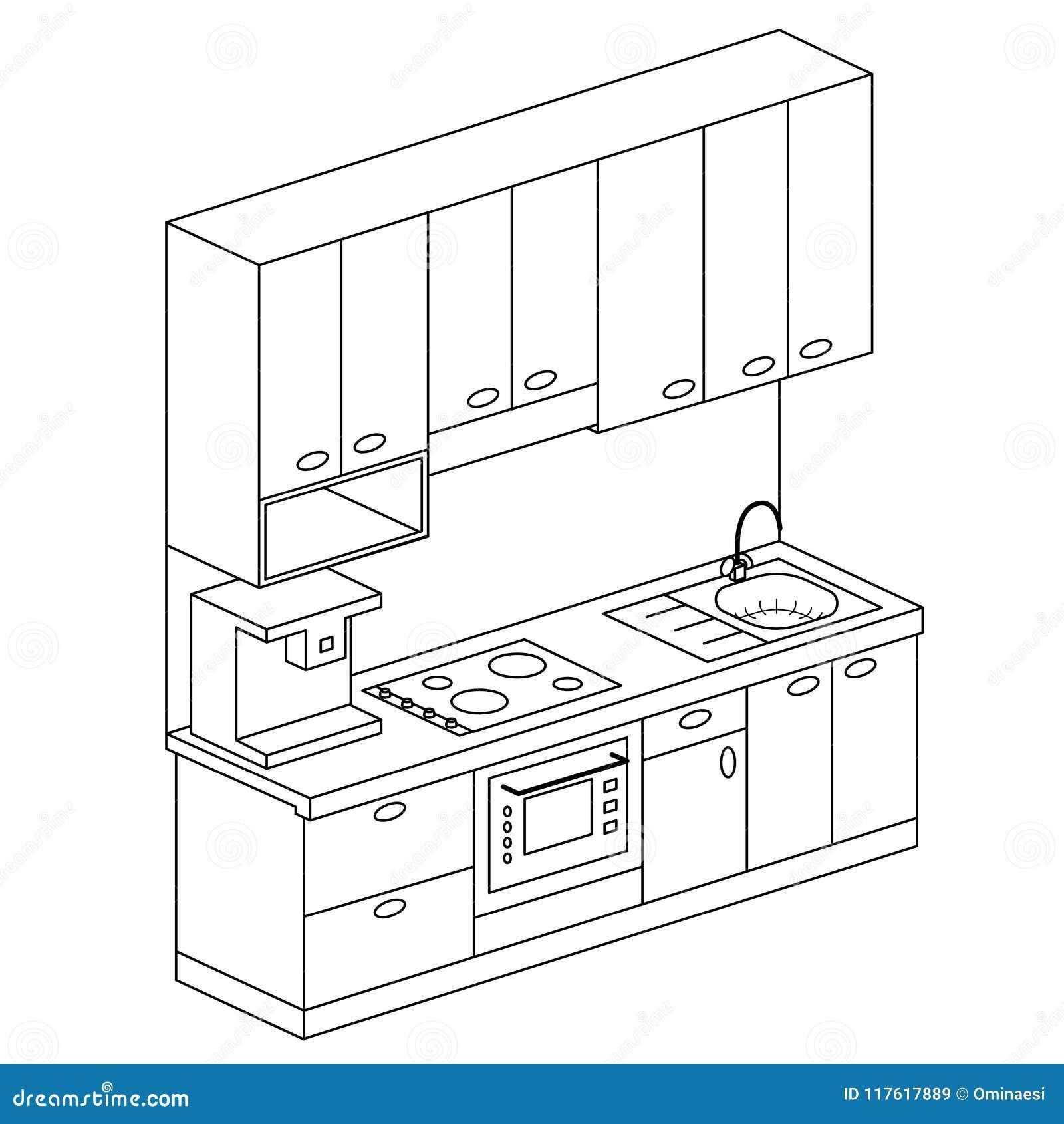Isometrisk illustration för vektor för fastställd design för plankök