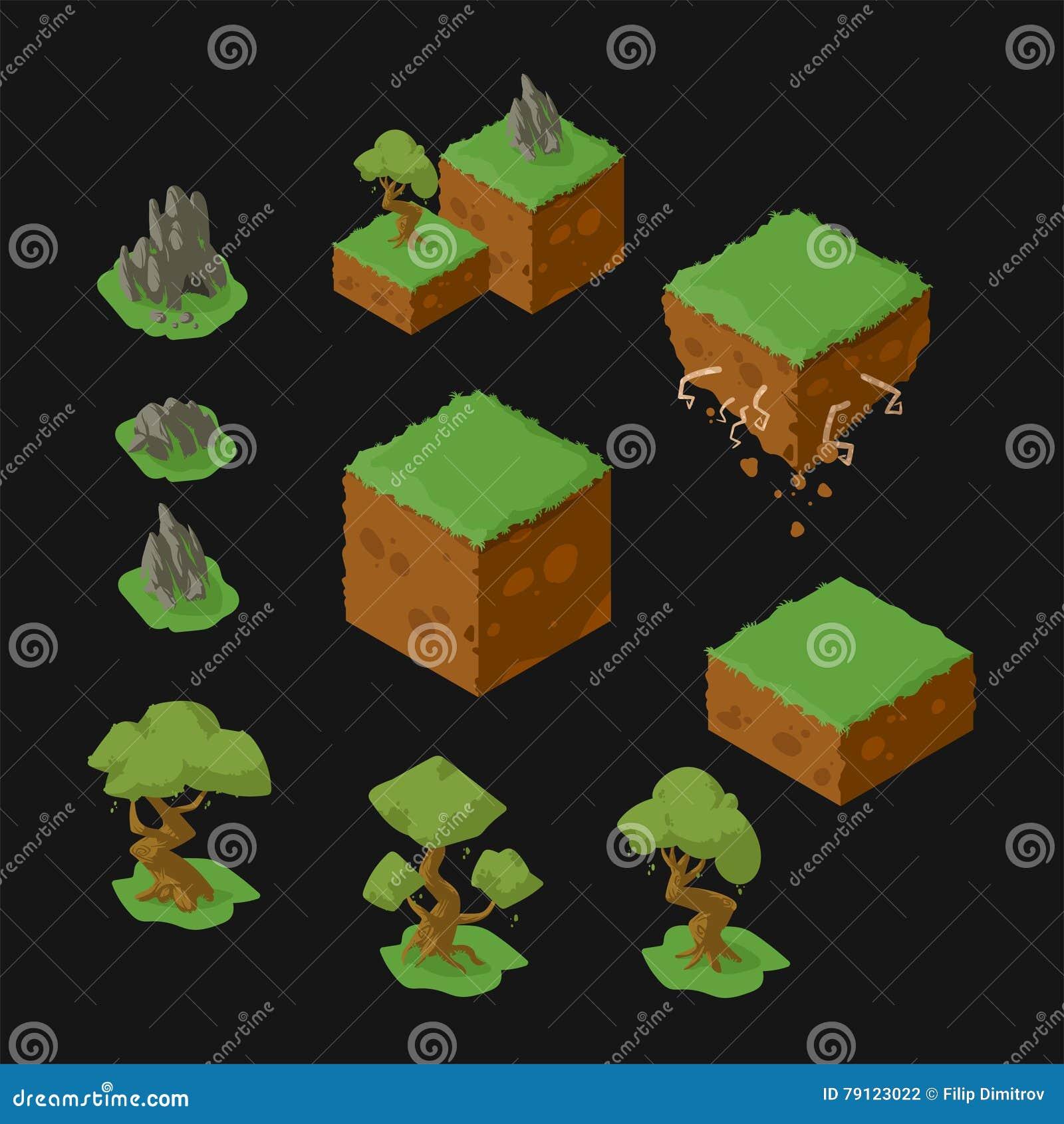 Isometrisk landskapdesign