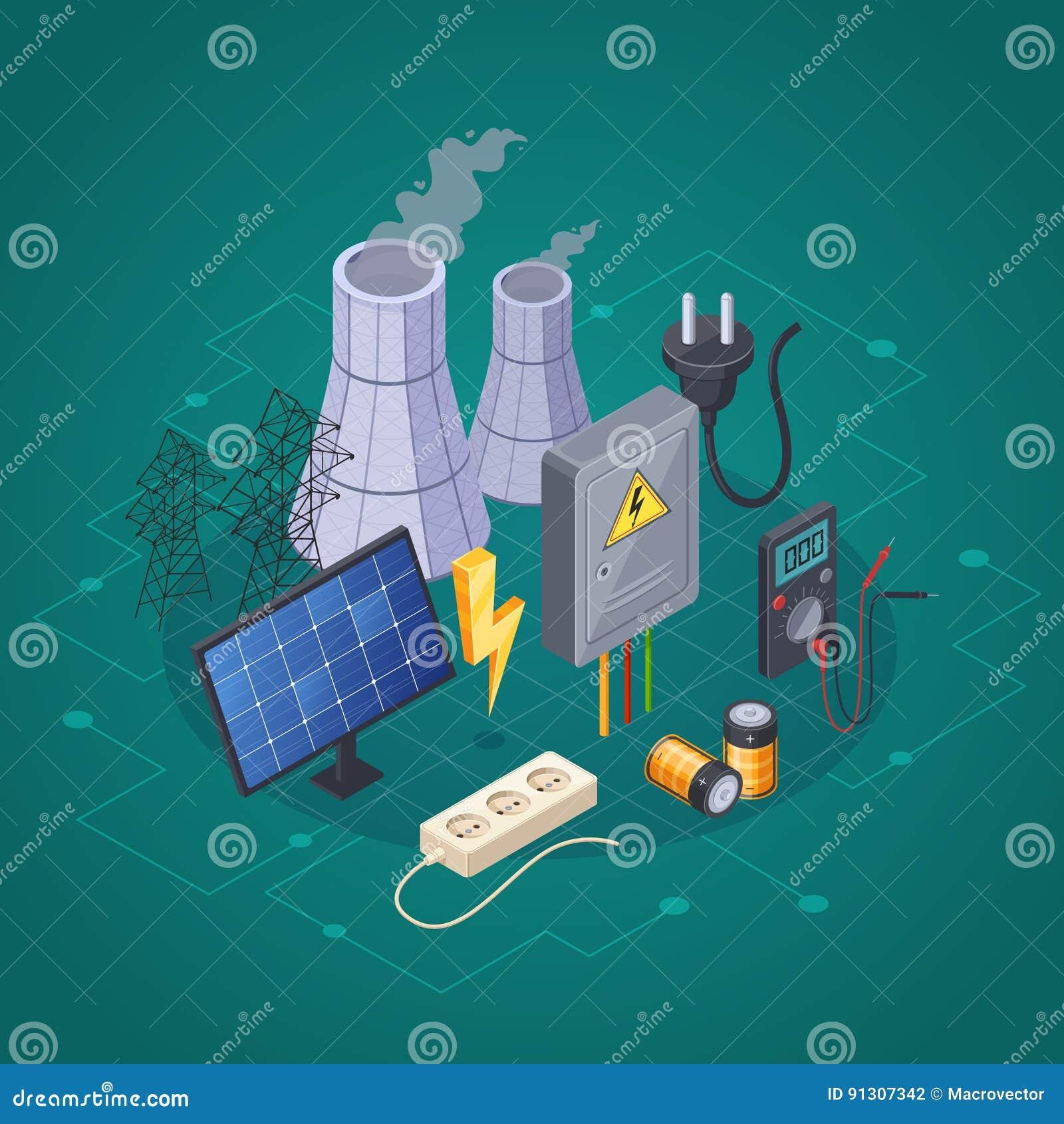 Isometrisk sammansättning för elektricitet