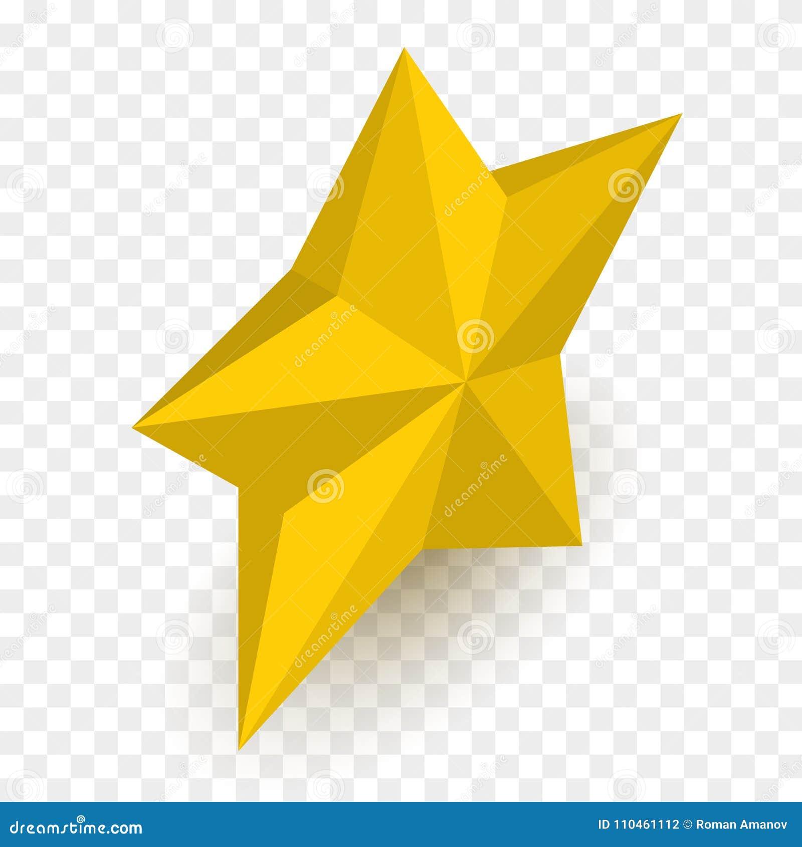 Isometrisk stjärna som isoleras på rutig backgound också vektor för coreldrawillustration
