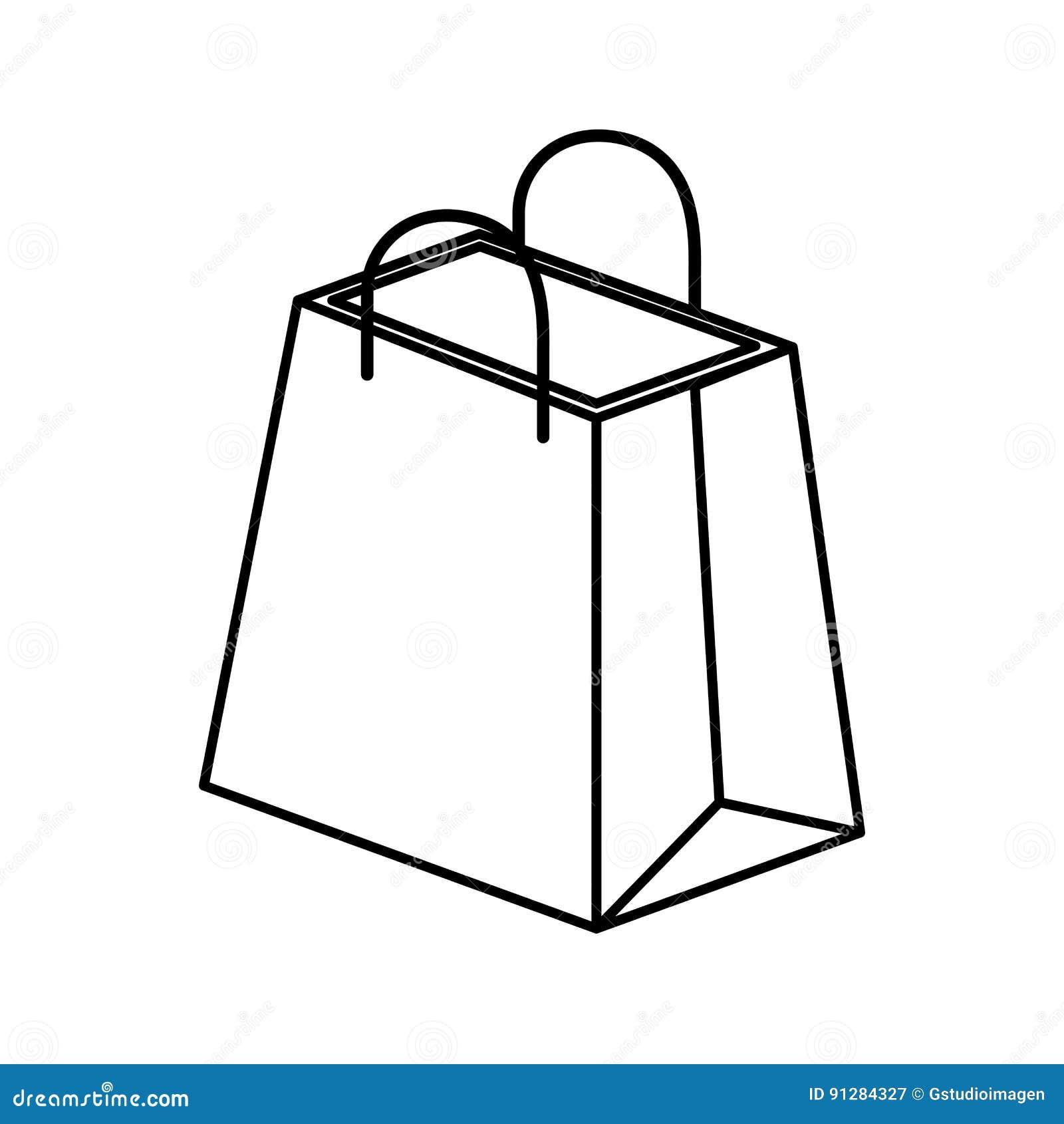 Isometrisk symbol för shoppingpåse