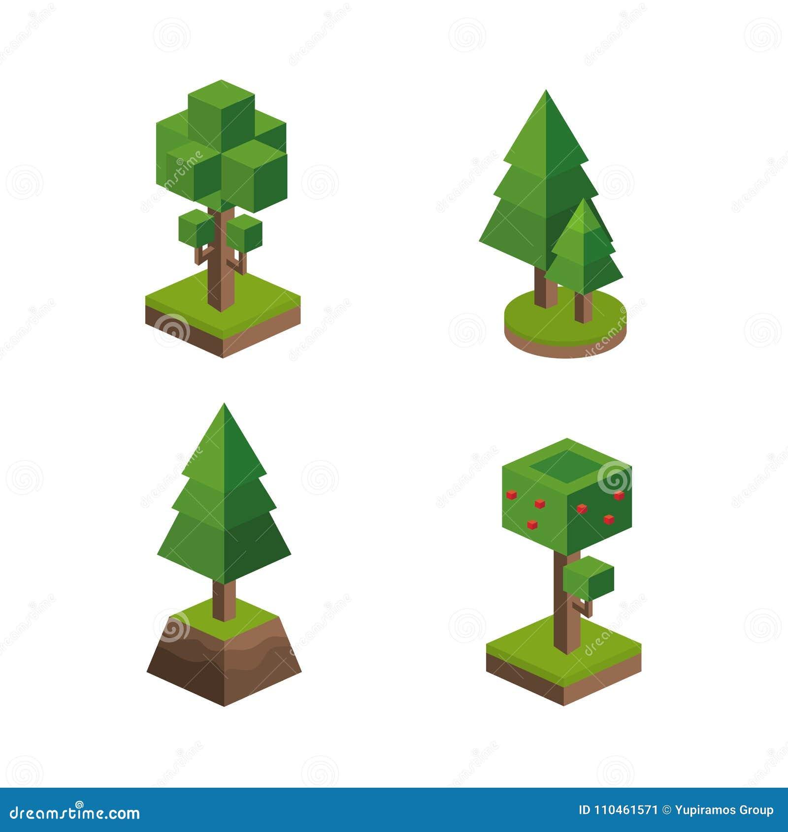 Isometrisk träddesign