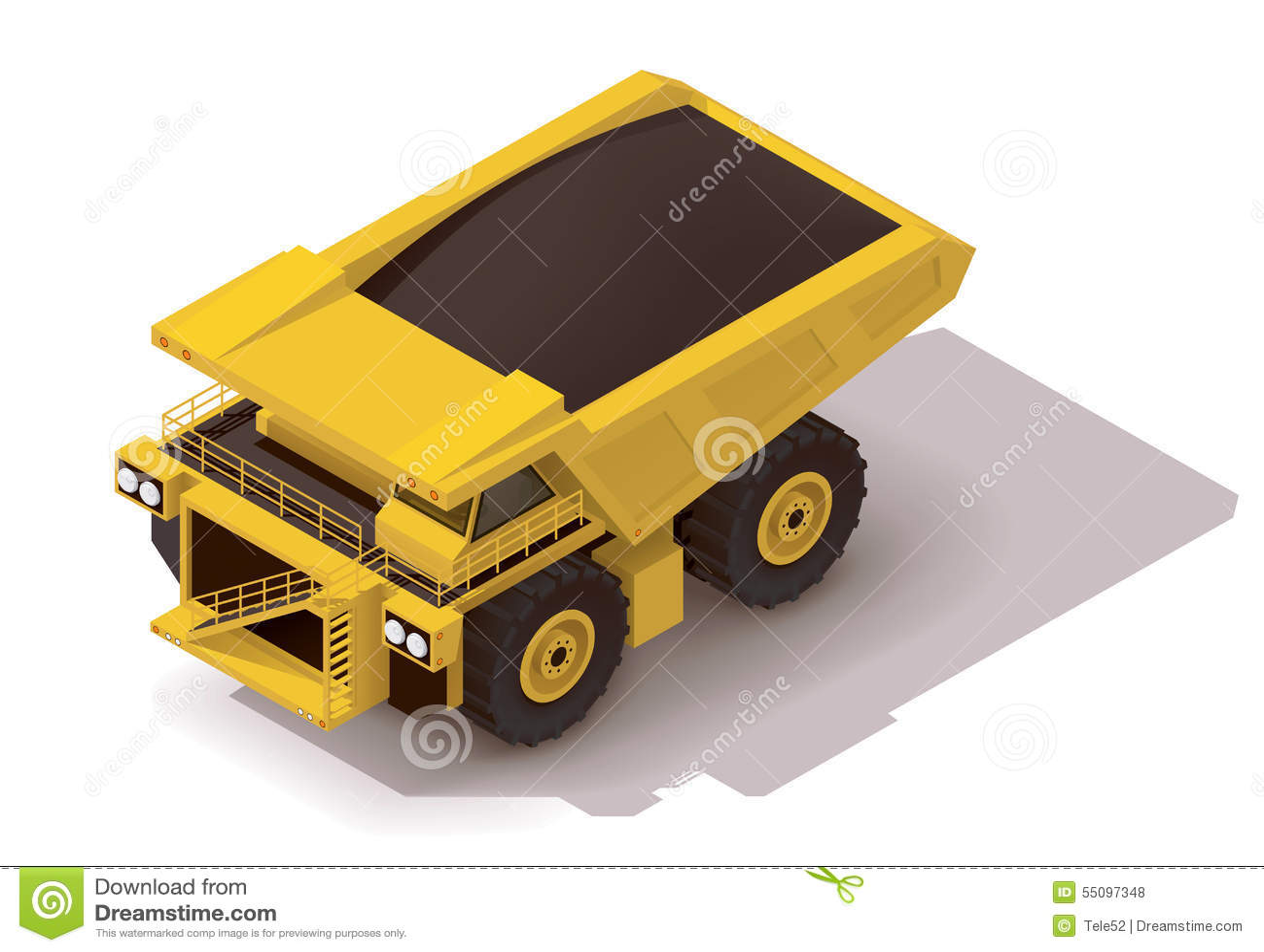 Isometrisk transportsträckalastbil för vektor