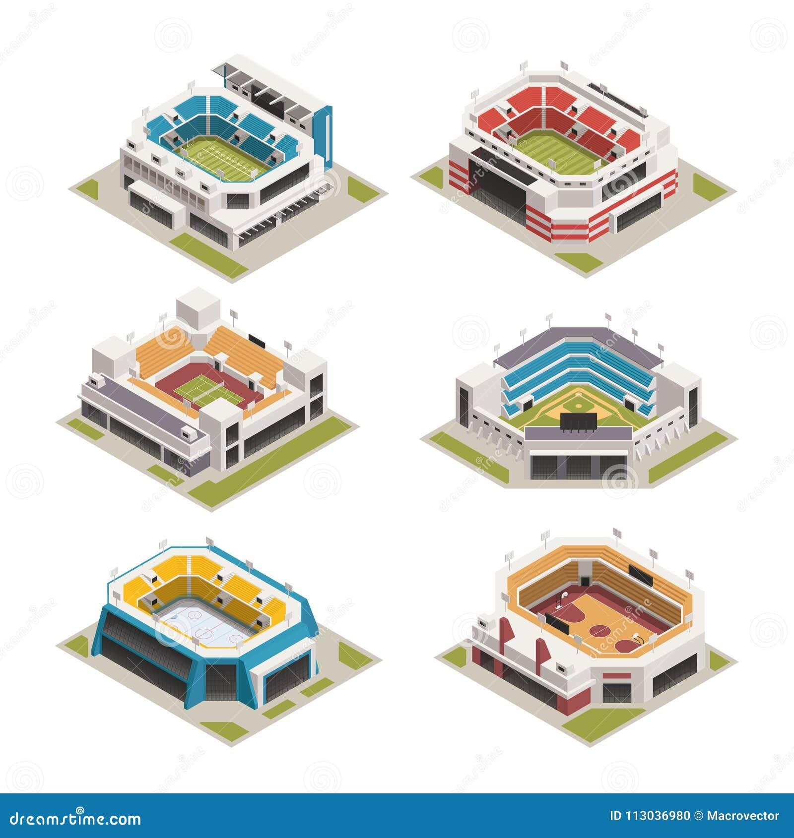 Isometrisk uppsättning för Stadion sportarena