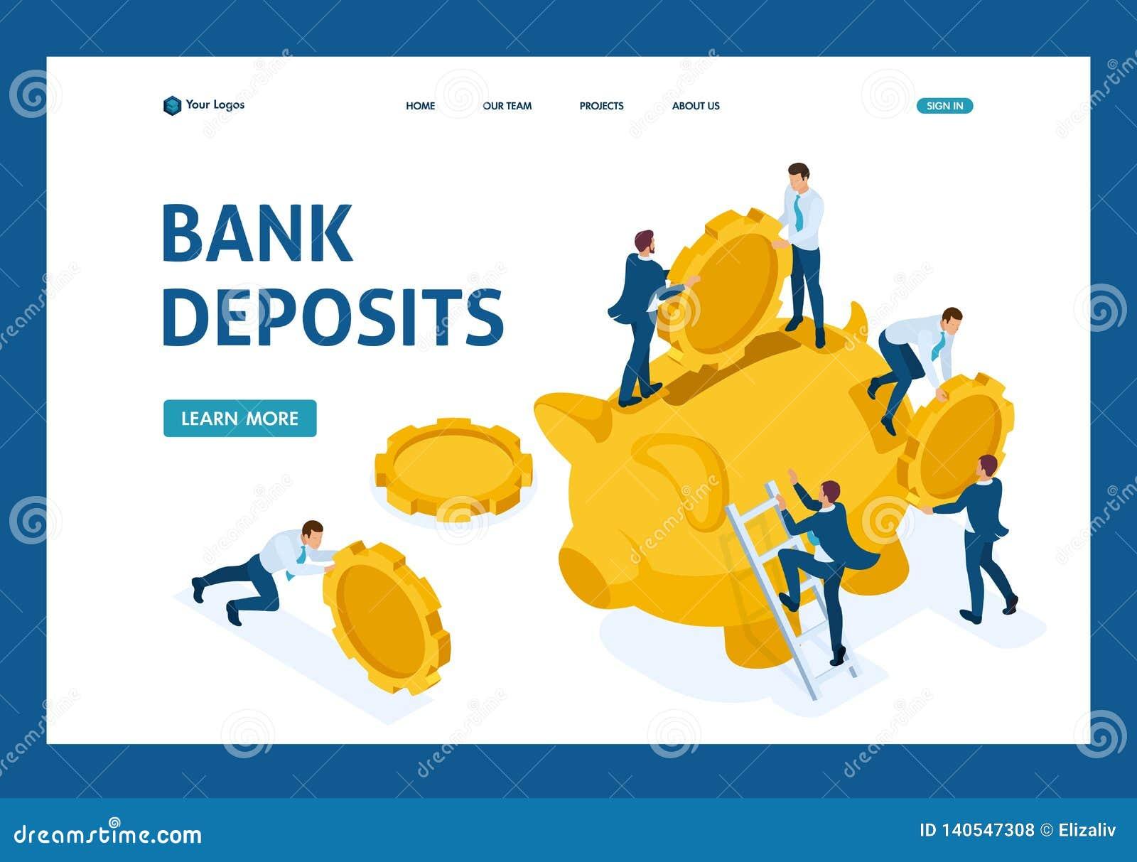Isometriskt begrepp av att investera i en bankinsättning