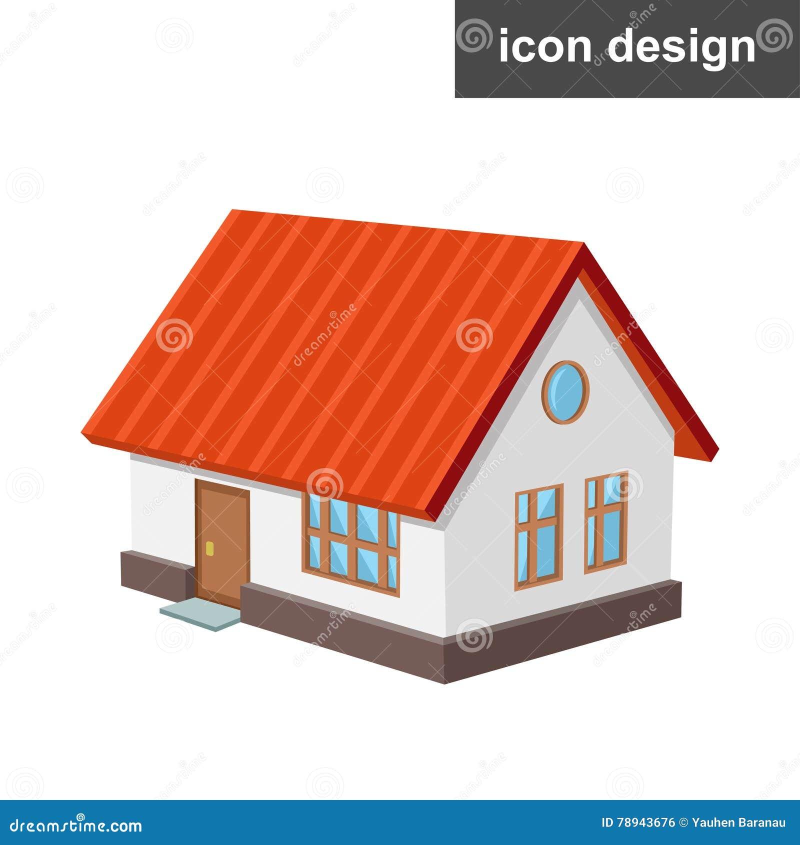 Isometriskt hus för symbol