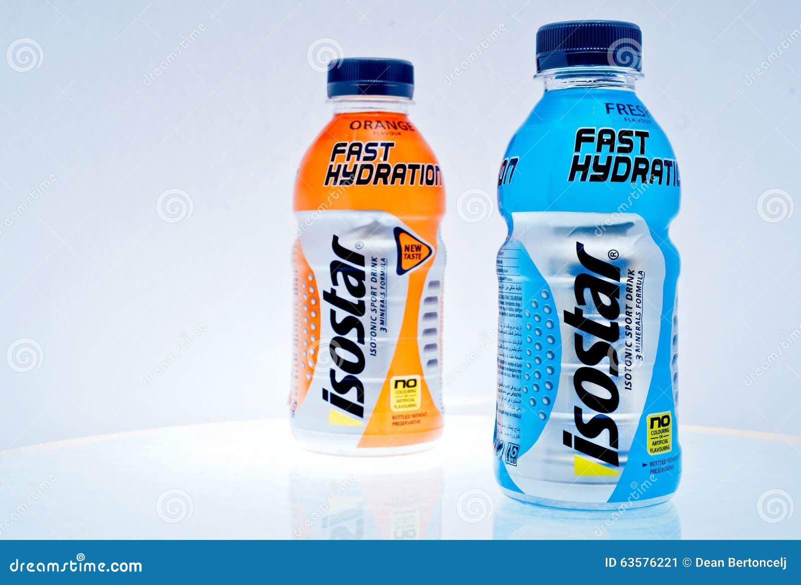 Blaues Isotonisches Getränk Stockfoto - Bild von für, blau: 53565374