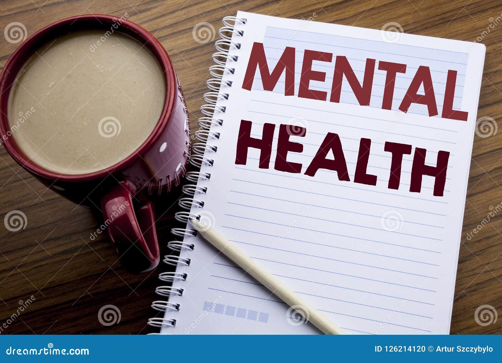 Ispirazione di titolo del testo di scrittura della mano che mostra la salute mentale Concetto di affari per disordine di malattia