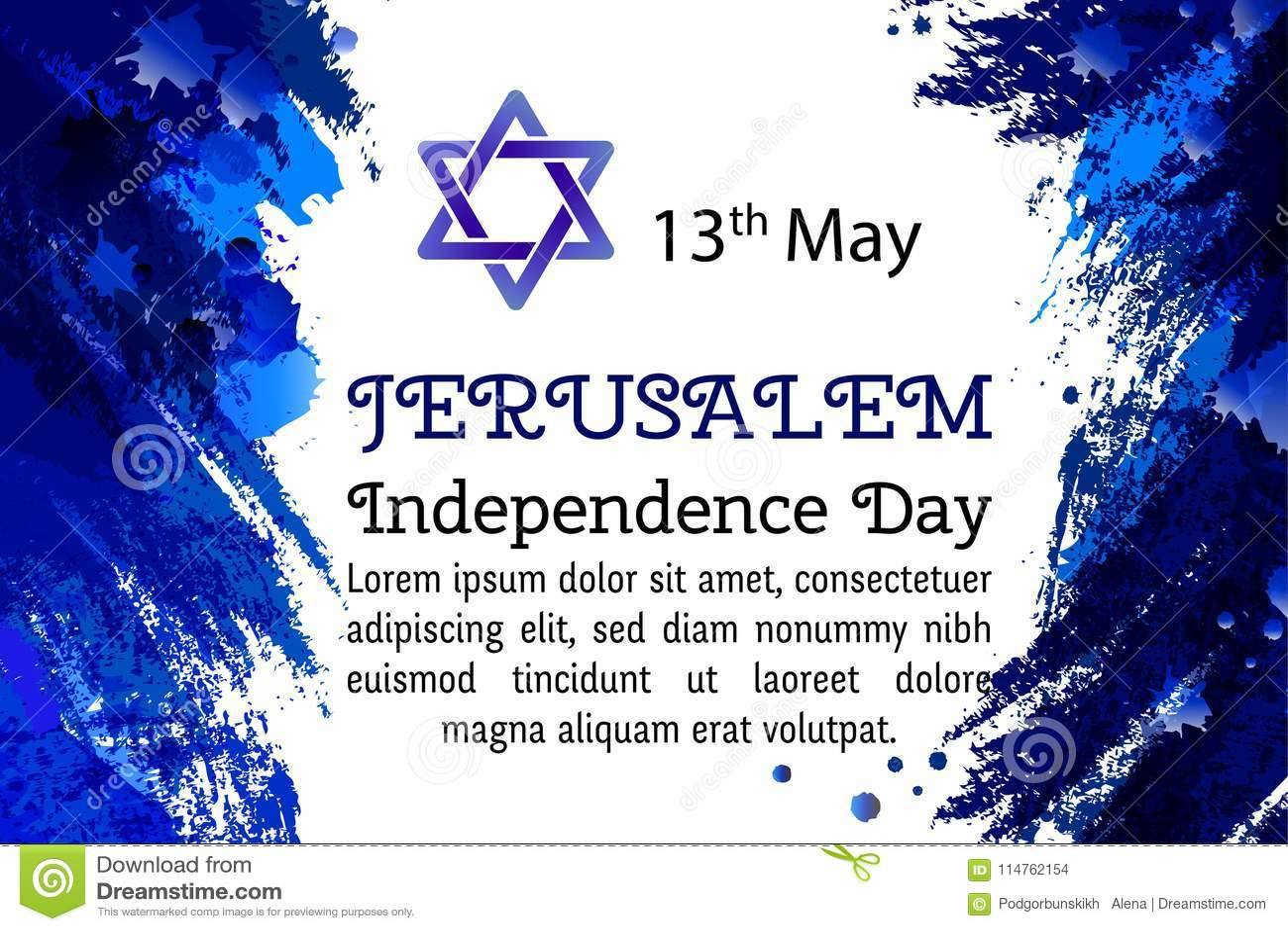 Joodse Verjaardag.Israel 70 Verjaardag De Onafhankelijkheidsdag Van Jeruzalem
