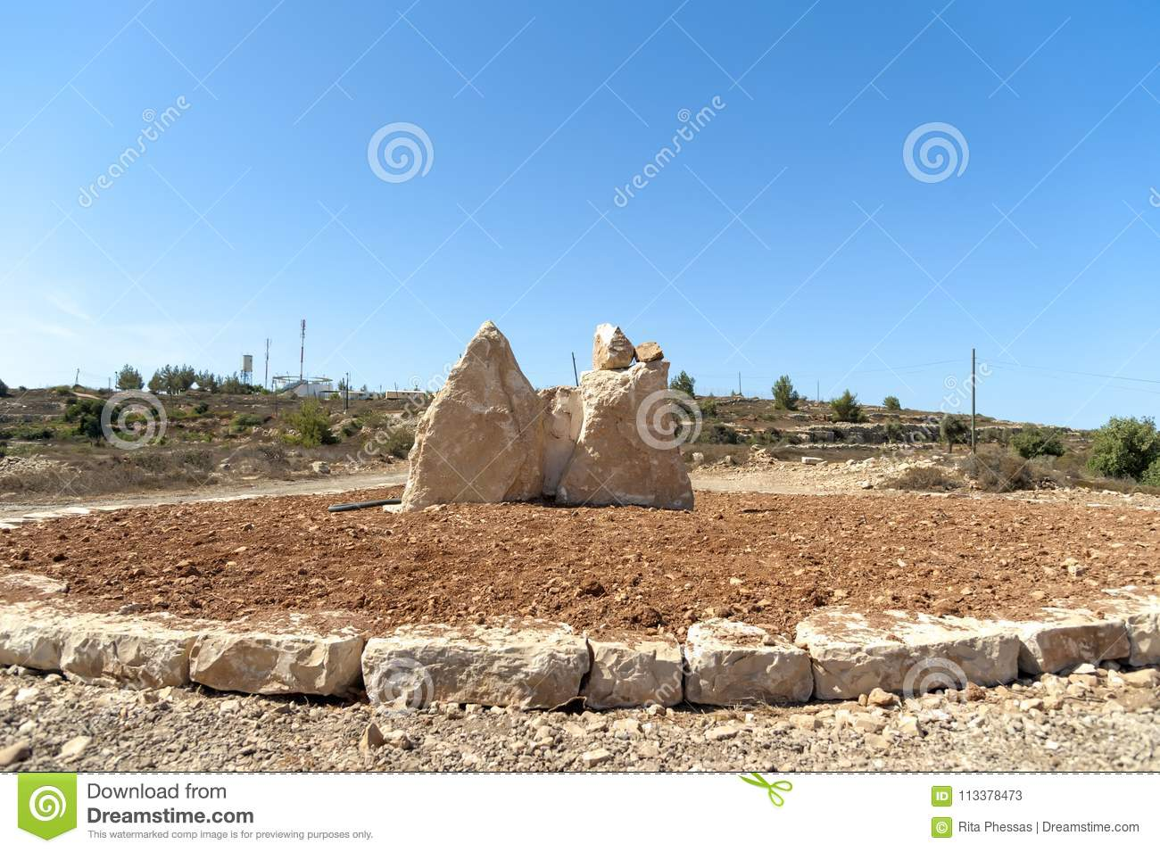 Bethel Israel: Israel Bethel. View Of Officially Identified Spot The Rock