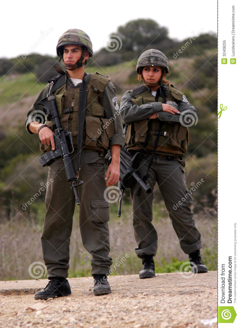 Israel Border Police Editorial Image Image 32408255