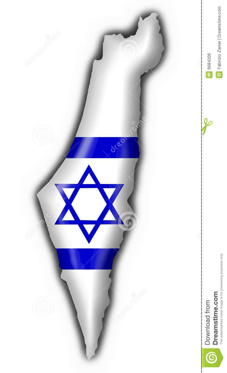 Israel Button Flag Map Shape Royalty Free Stock Image - Image: 6684206