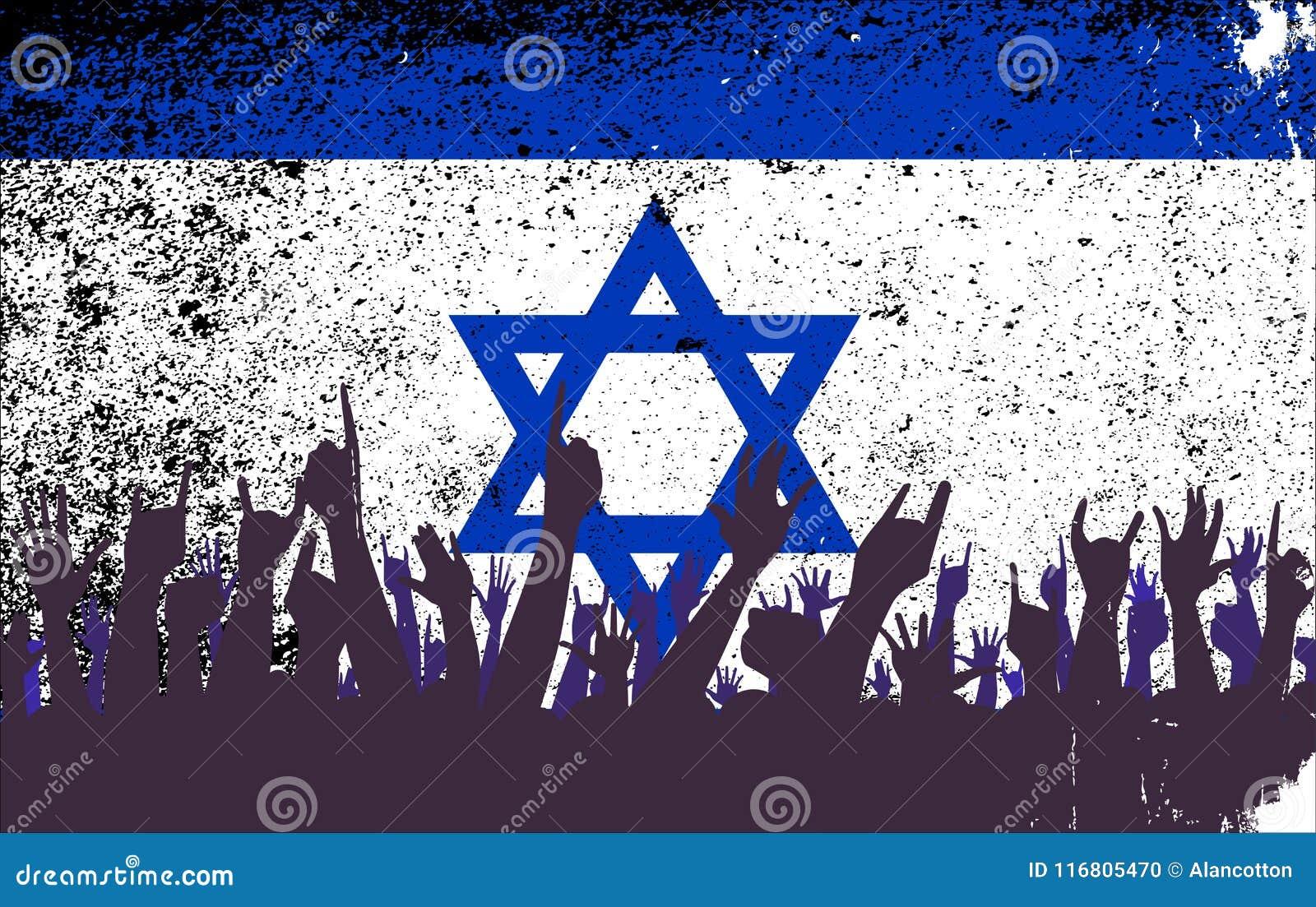 Israel Flag con reazione del pubblico