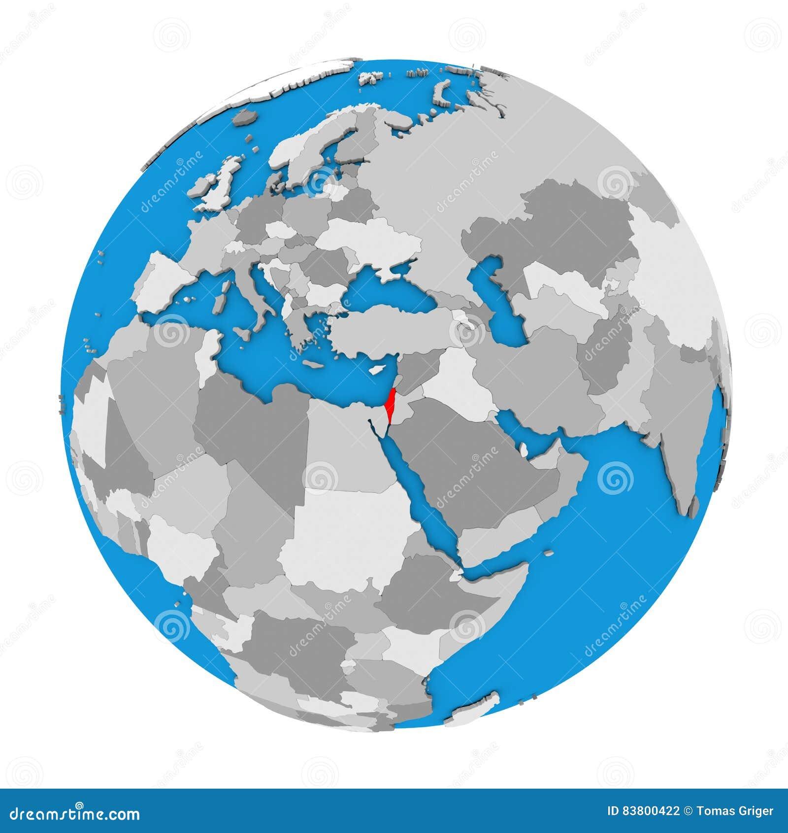 Israel on globe stock illustration illustration of white 83800422 download comp gumiabroncs Images