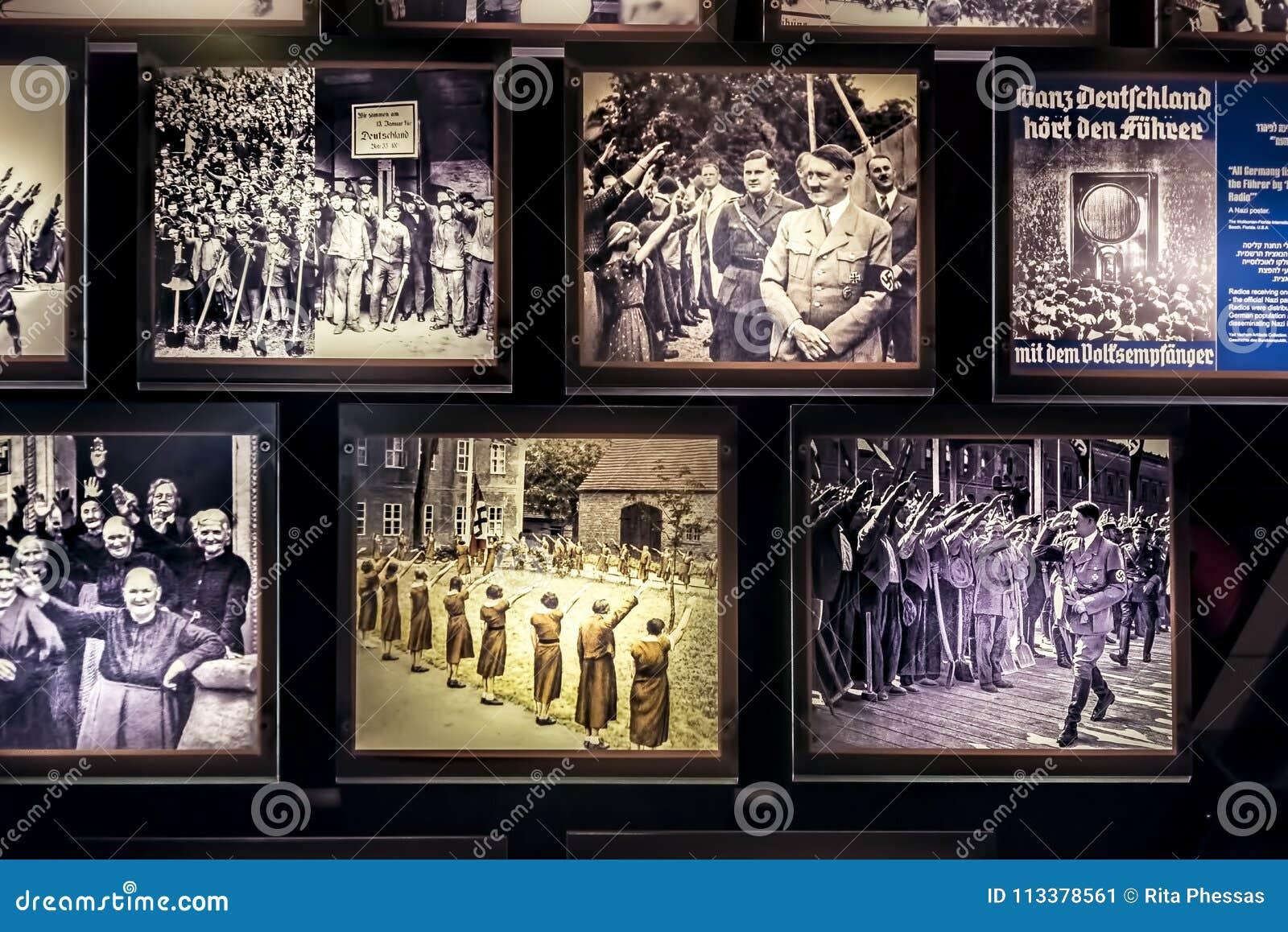 Israel, holocausto de Yad-Vassim, vista 14-08-2017 de las fotos desde la 2da guerra mundial y persecución de los judíos, como