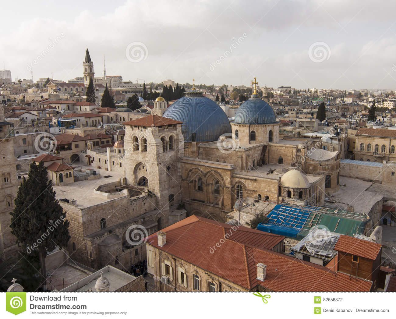 Israel Jerusalem Church Of The Holy Sepulchre With Old