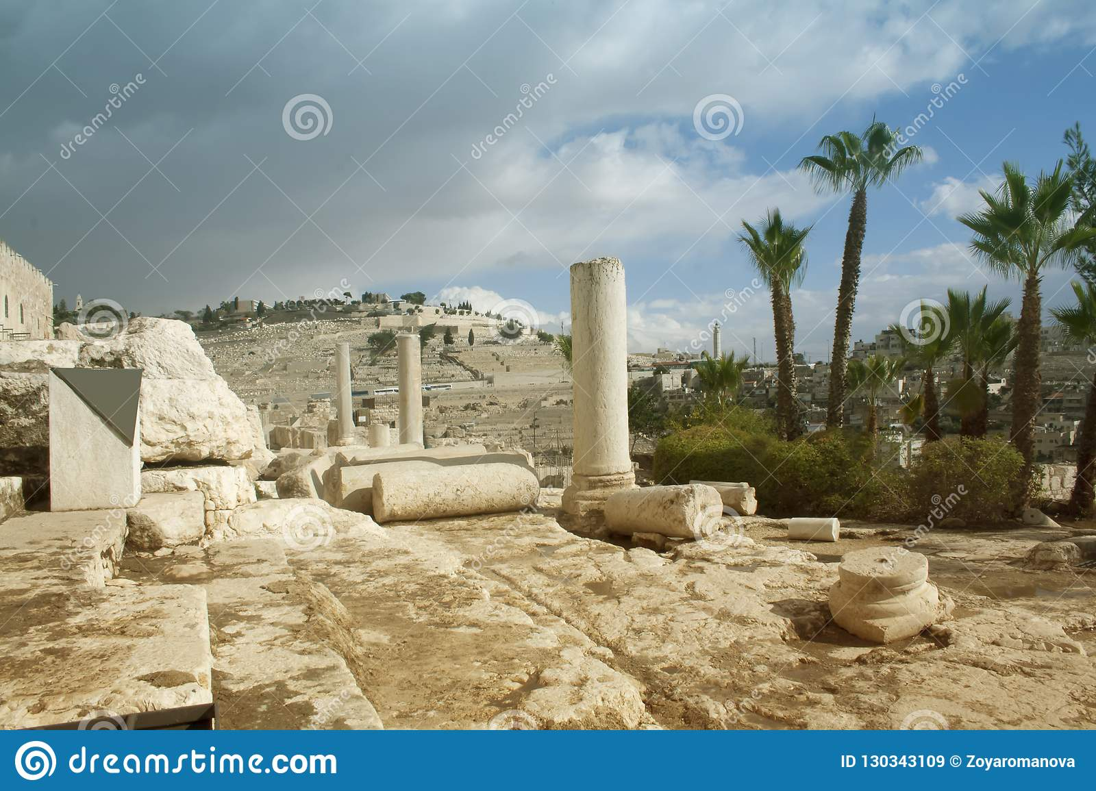 Israel Landscape Landmarks Jerusalem View Of The Old Town And T