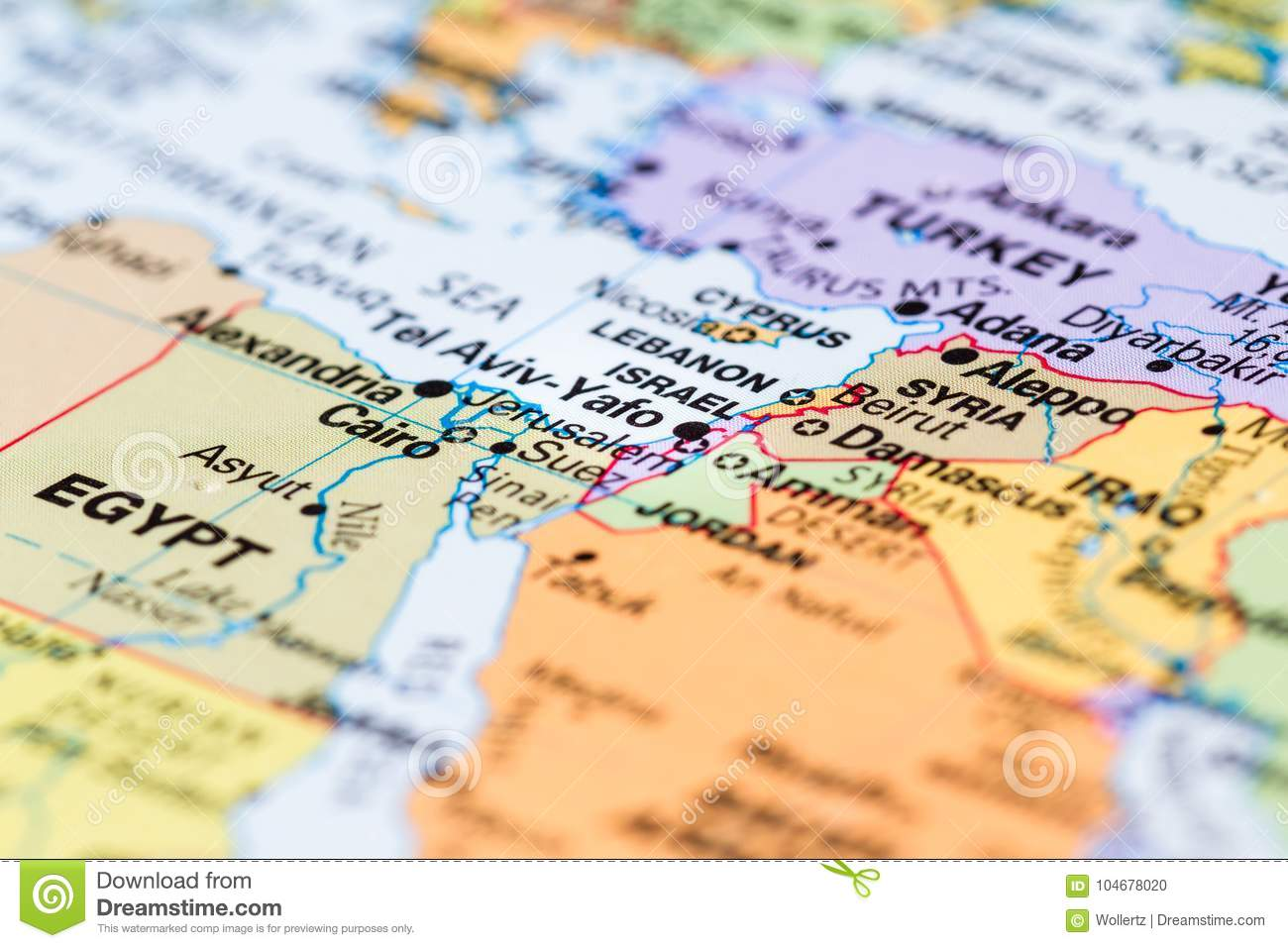 Israel On A Map Of The World.Israel On A Map Stock Photo Image Of Explore Color 104678020