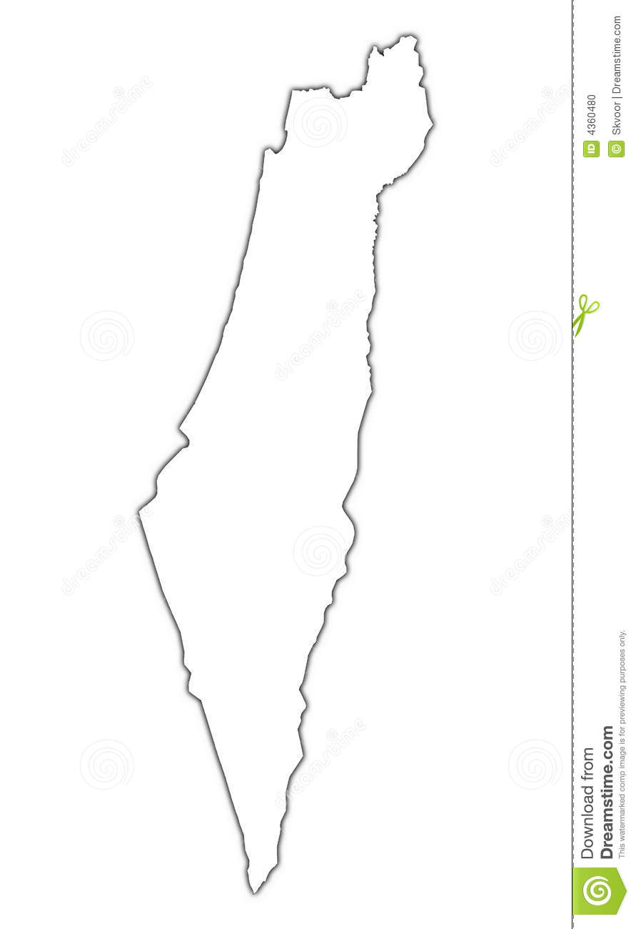 Israel Outline Map Stock Illustration Illustration Of