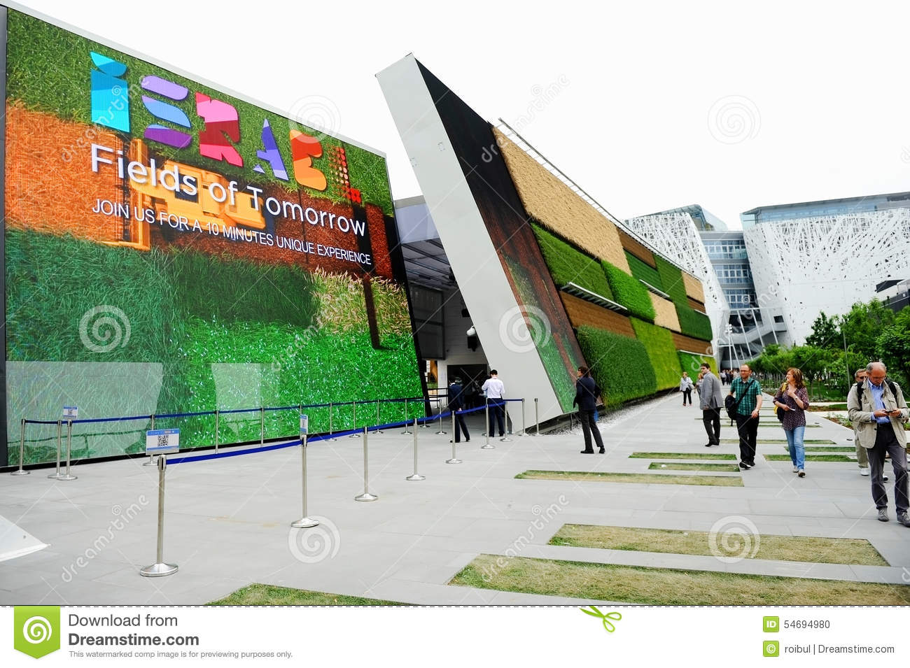 Expo Milano Stands : Israel pavilion at expo milano editorial image