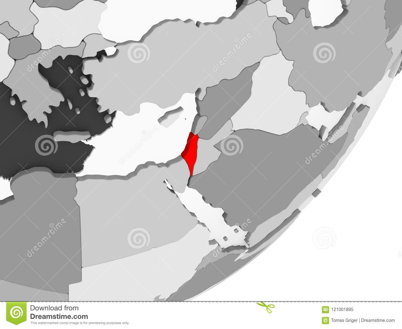 Israel in red on grey map stock illustration illustration of world download israel in red on grey map stock illustration illustration of world 121001895 gumiabroncs Images