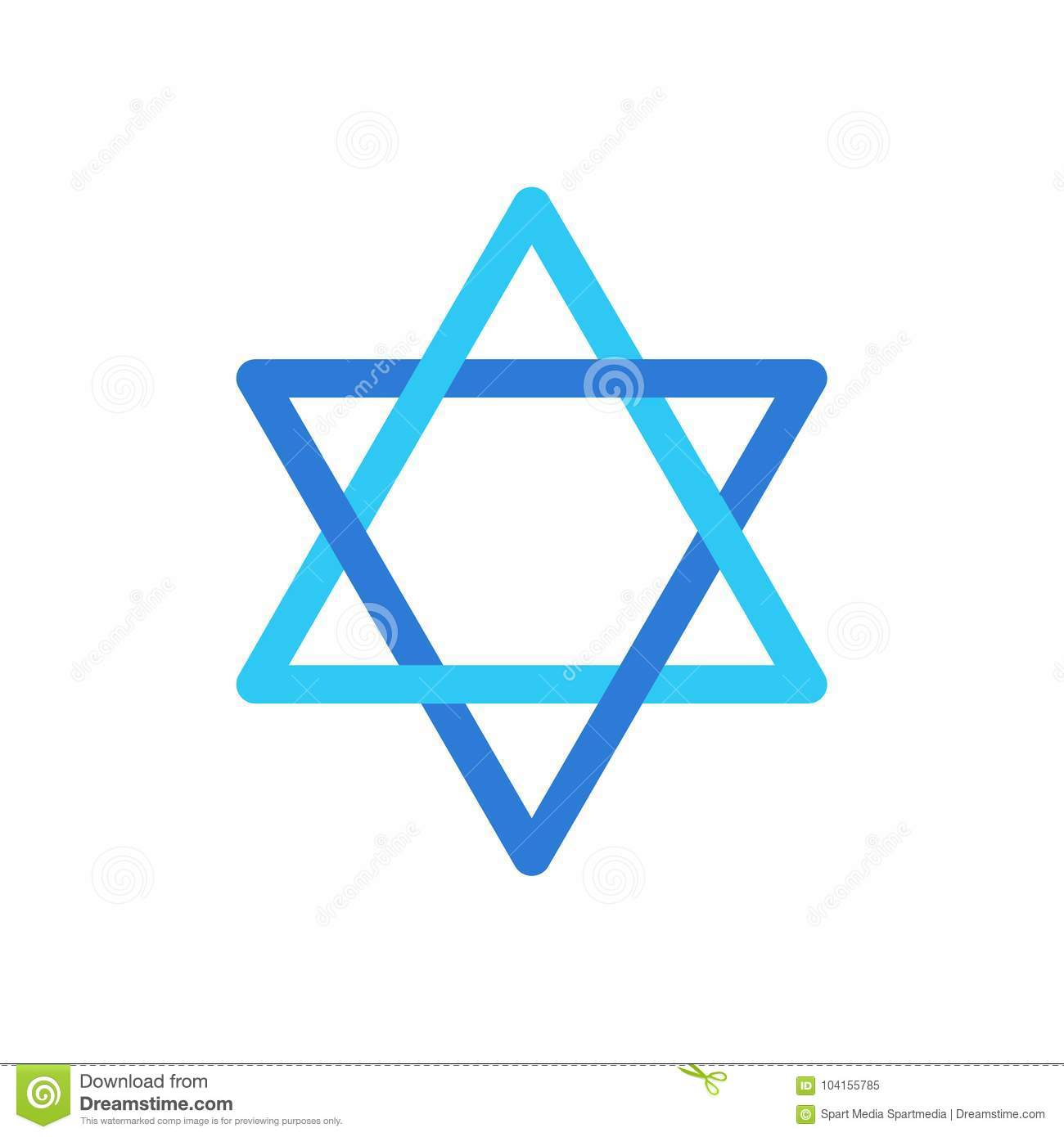 Star of David Israel symbol isolated on white background wallpaper, David`s star Jewish sign flag logo concept, star sticker icon vector illustration Israel ...