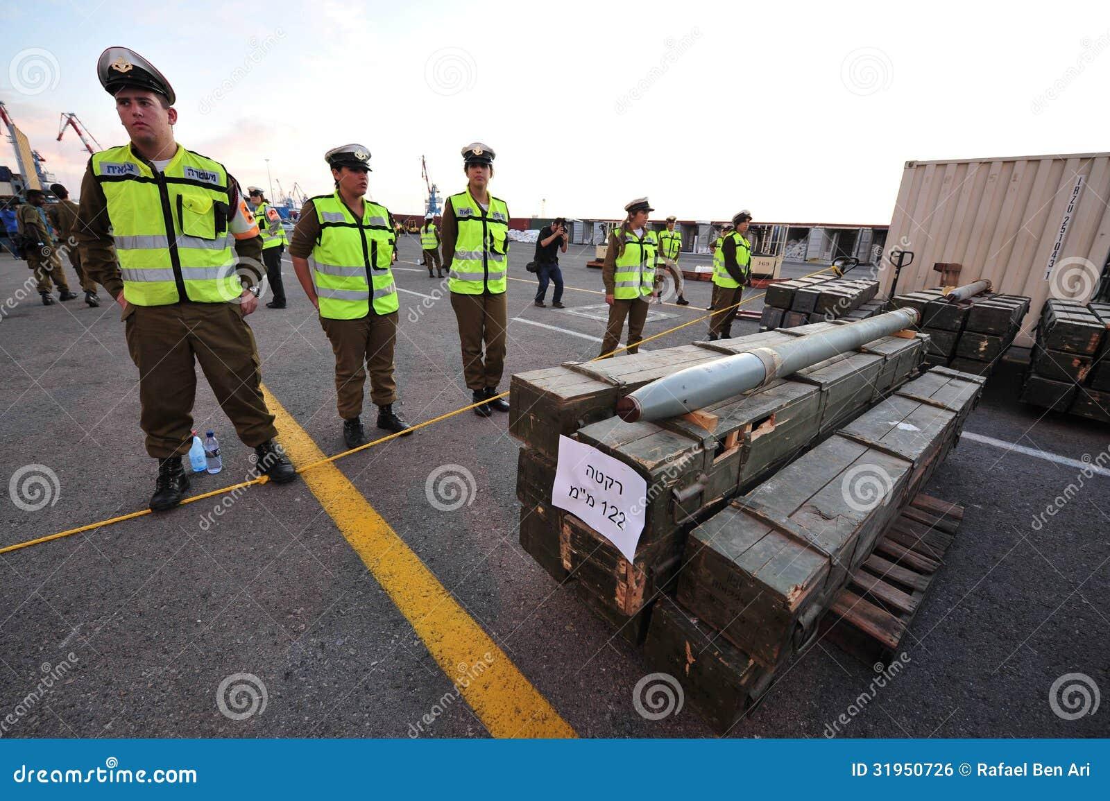 Israeli naval force intercepts iranian weapon ship editorial photo
