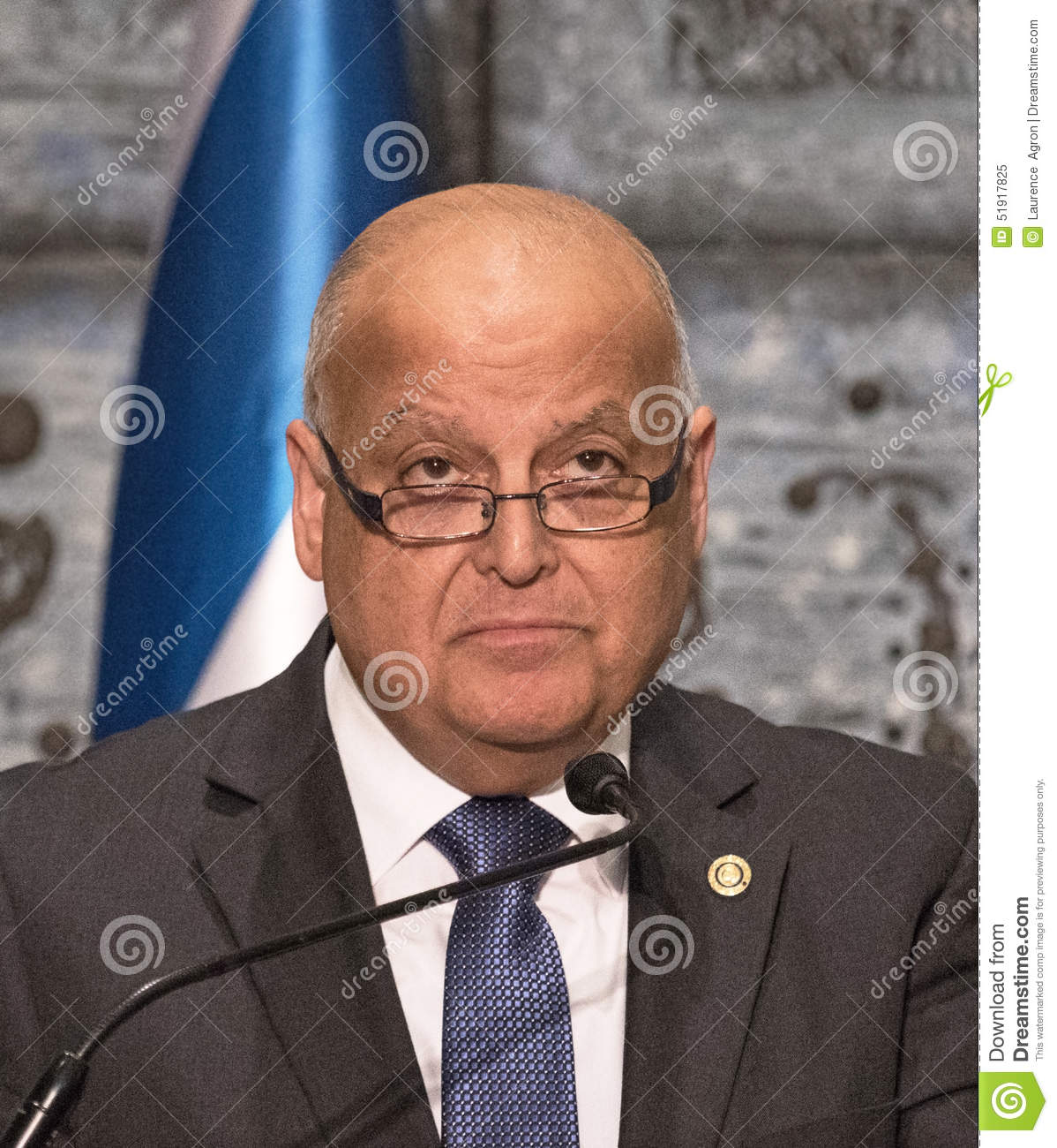The Honorable Judge Salim Joubran, chairman of the Central Elections Committee, presents the official result of the election for the 20th Knesset to the ... - israeli-parliamentary-election-honorable-judge-salim-joubran-chairman-central-elections-committee-presents-official-51917825