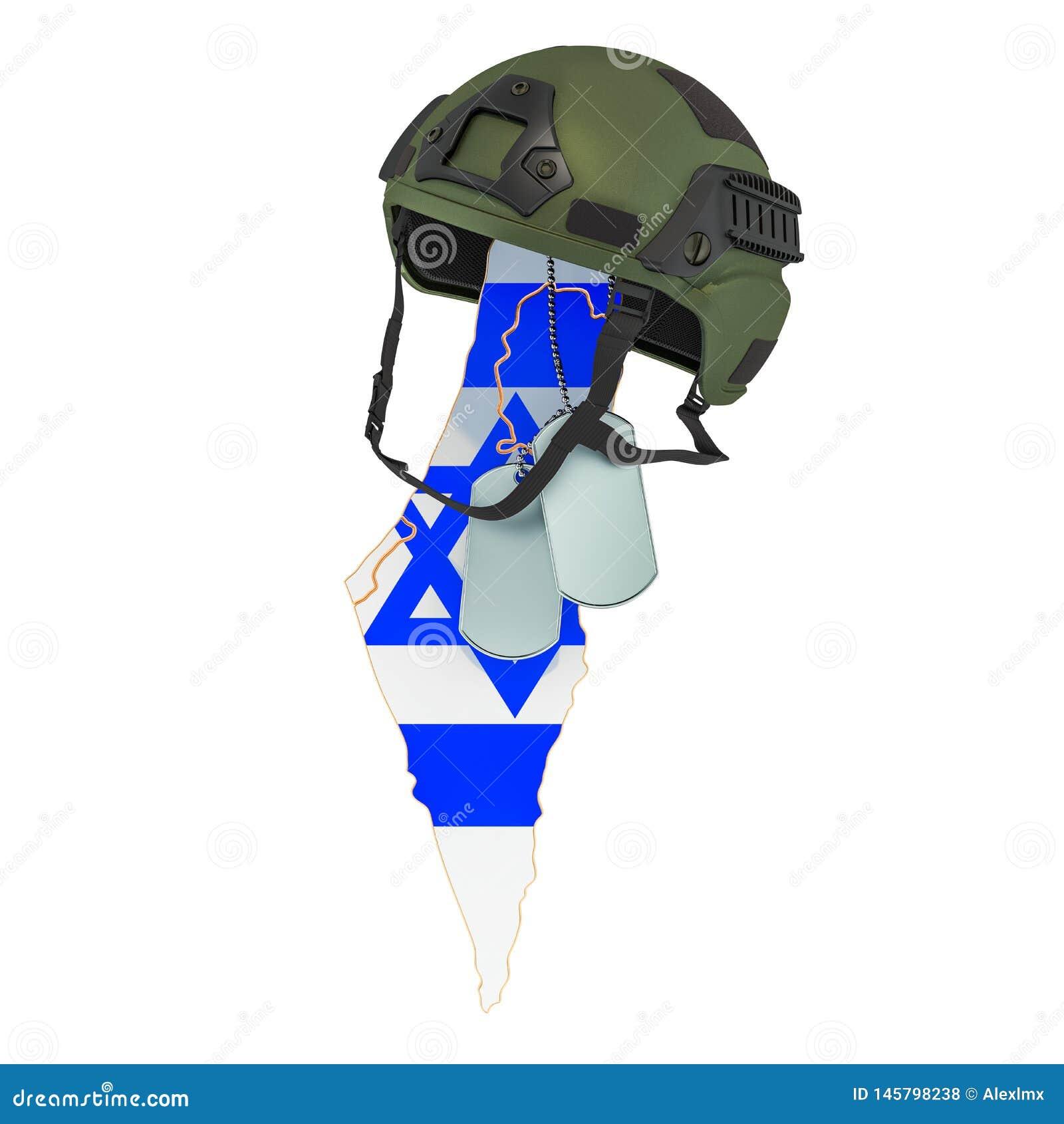Israelisches Konzept der militärischen Streitkraft, der Armee oder des Krieges Wiedergabe 3d