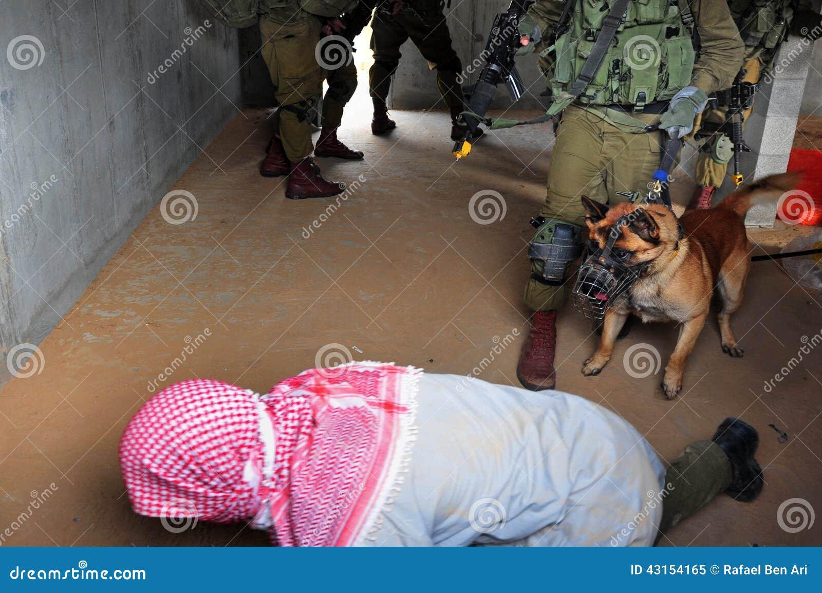 Israels försvarsmaktövning - stads- krig för IDF