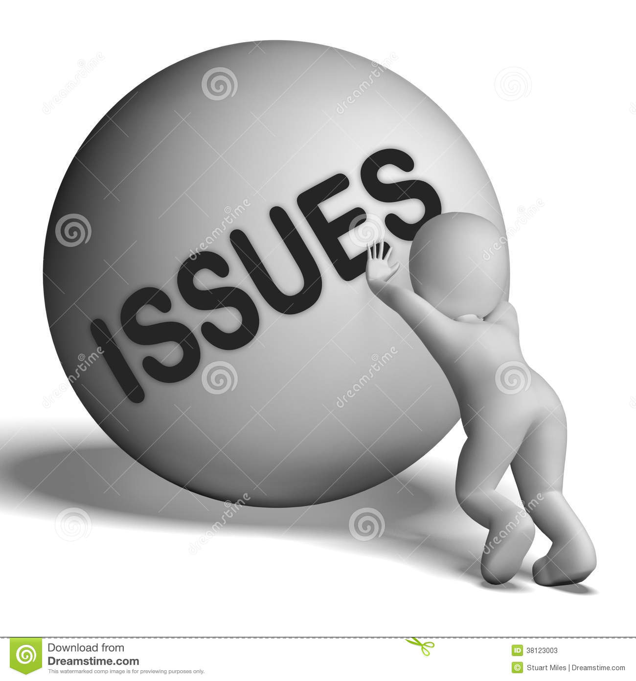 Issues Uphill Character Shows Problems Difficulty Stock