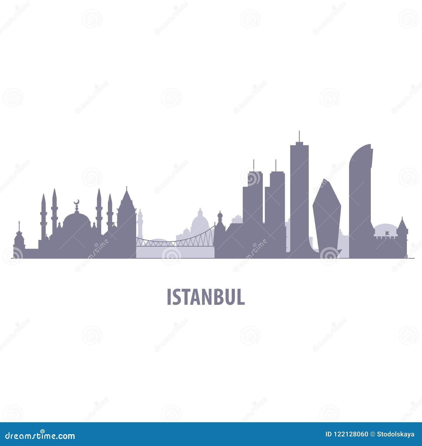 Istanbuł pejzaż miejski - sylwetka linia horyzontu Istanbuł