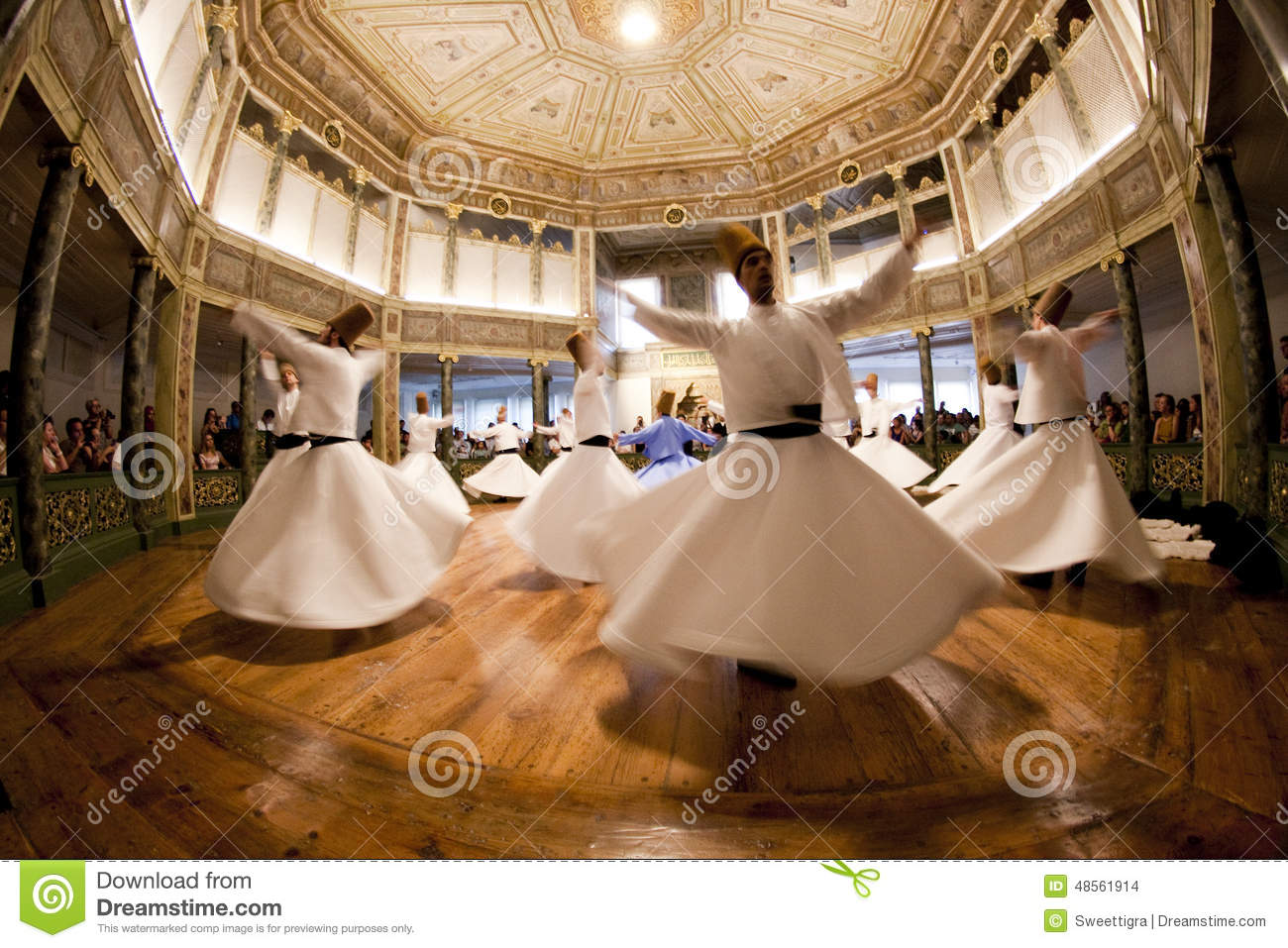 Istanbul - August 31, 2014. Mevlevi Whirling Dervishes ...