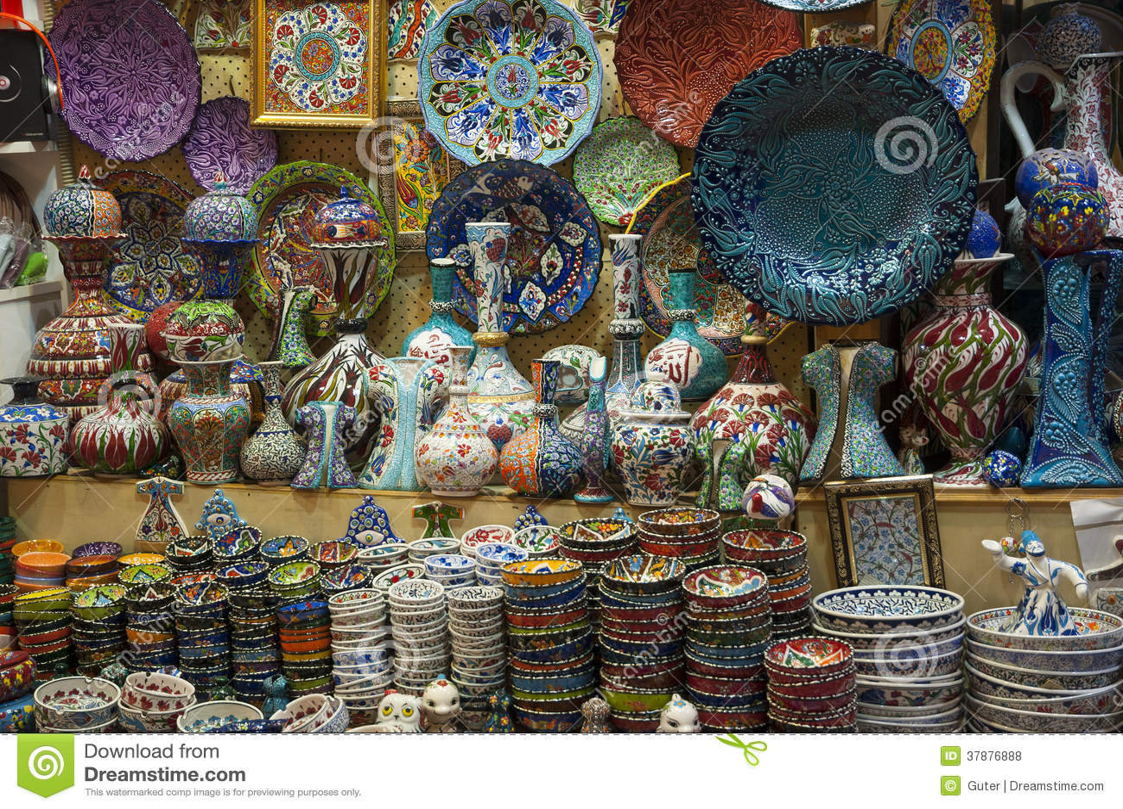 Istanbul bazar, Turkey stock photo  Image of constantinople - 37876888